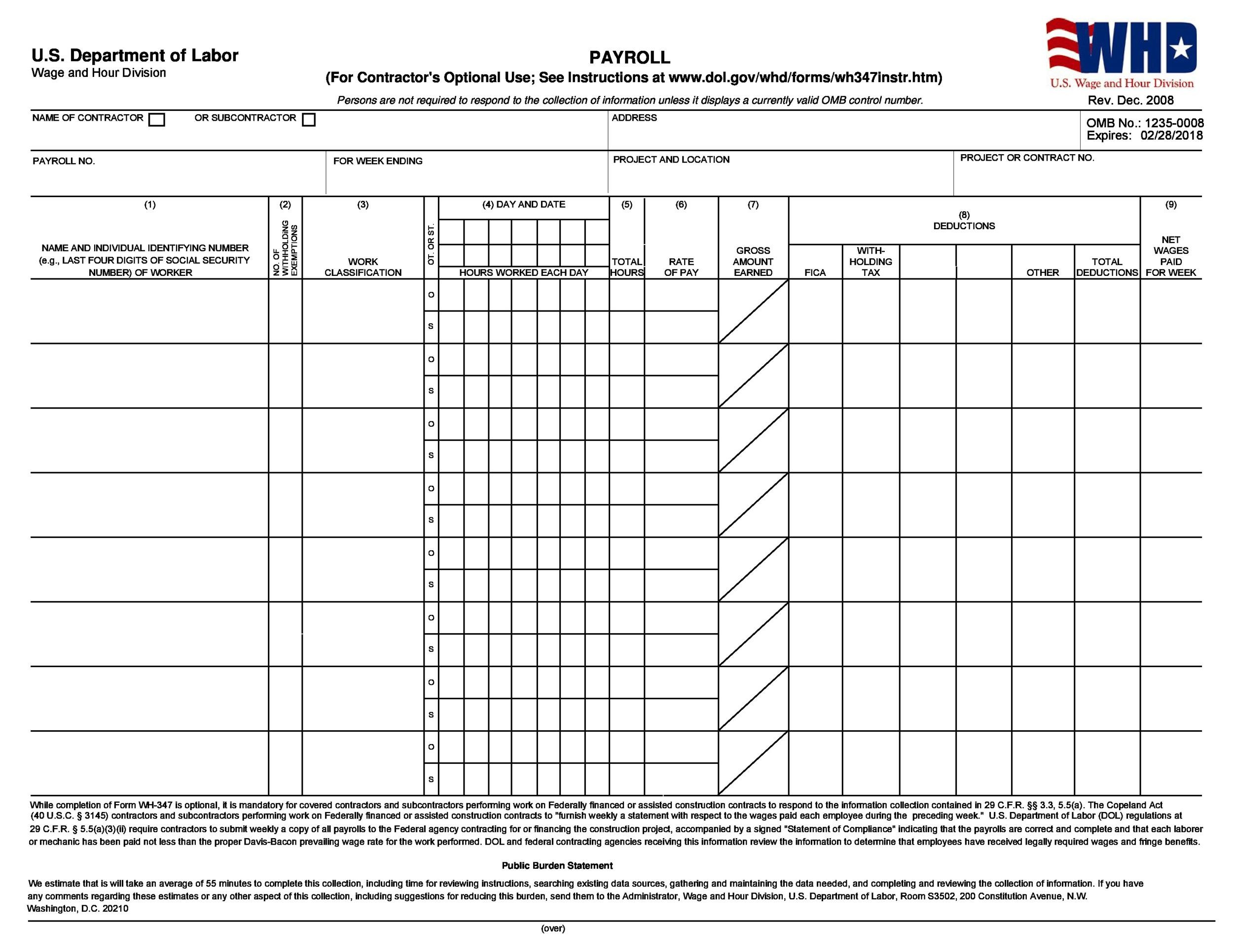 Free payroll template 03