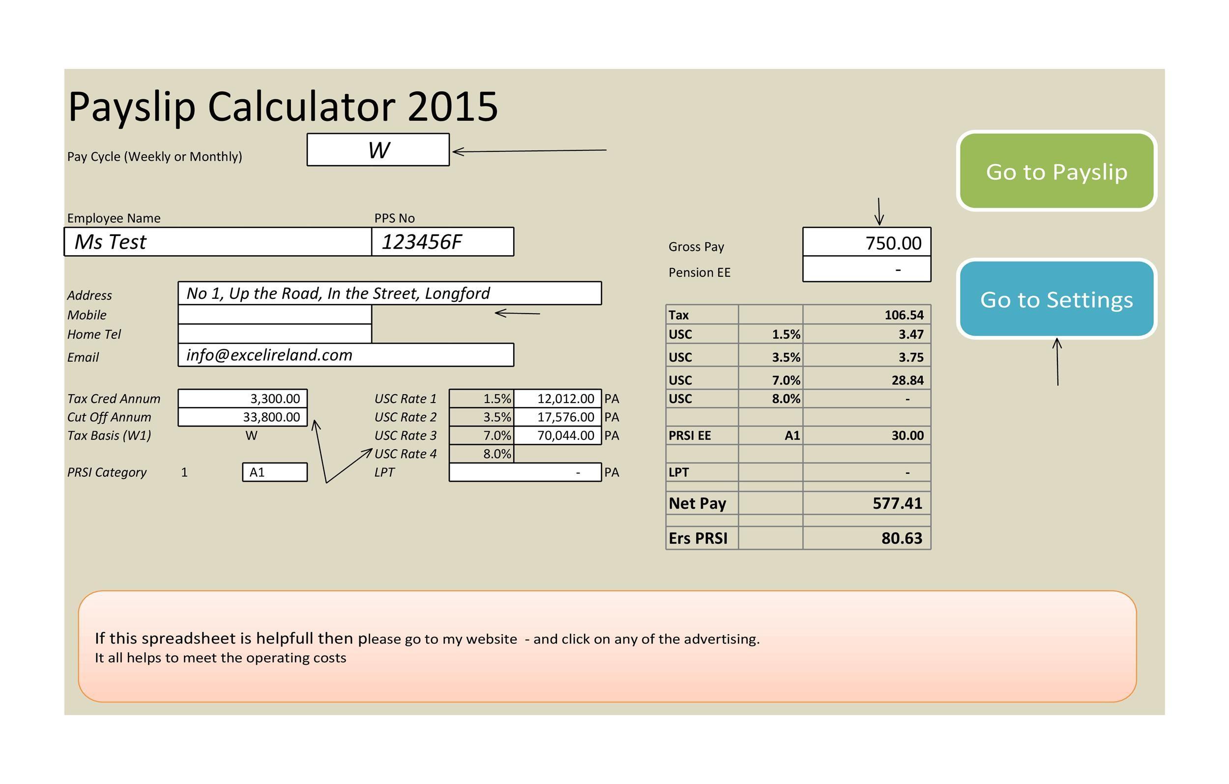 Free payroll template 04