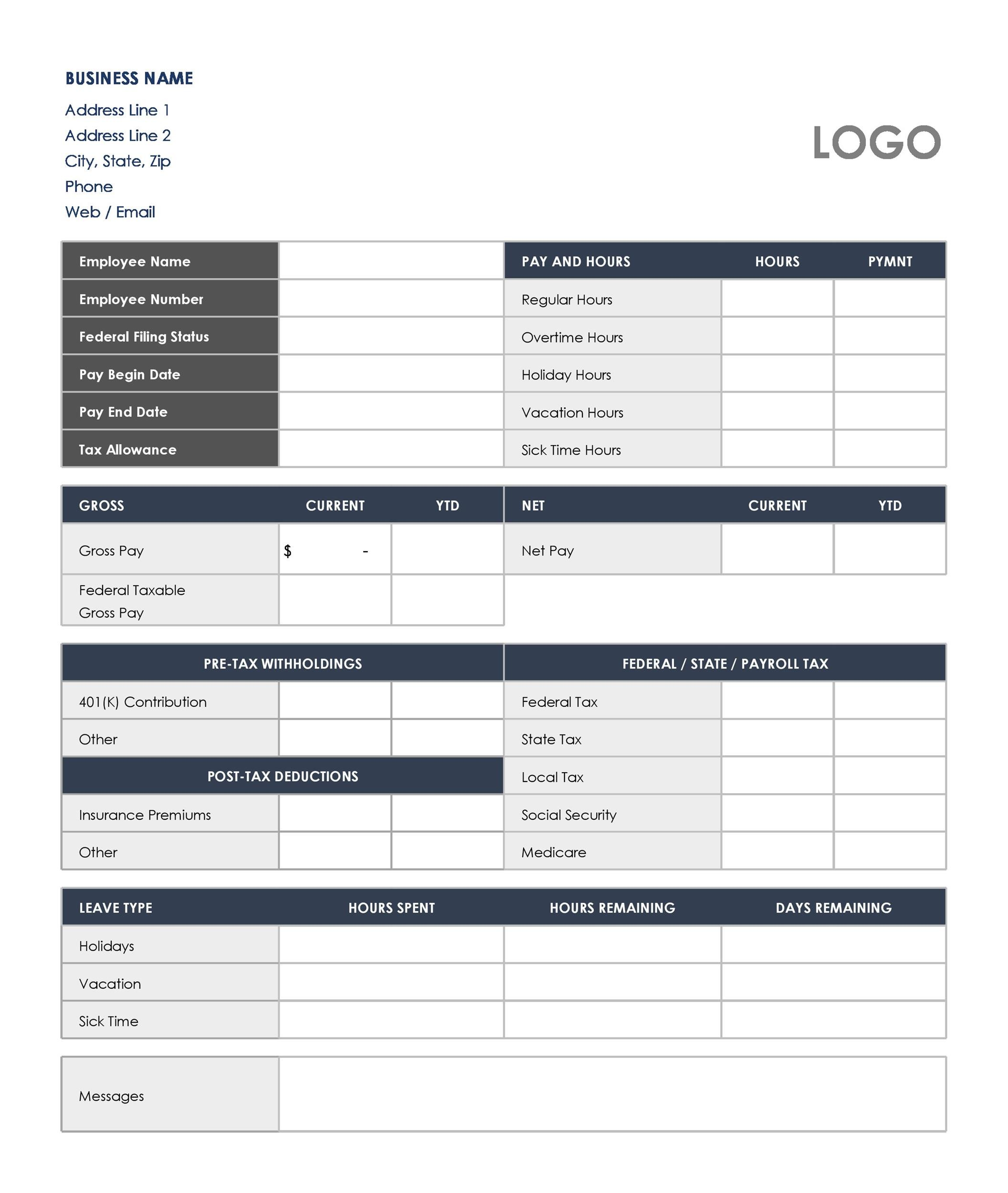 Free payroll template 09