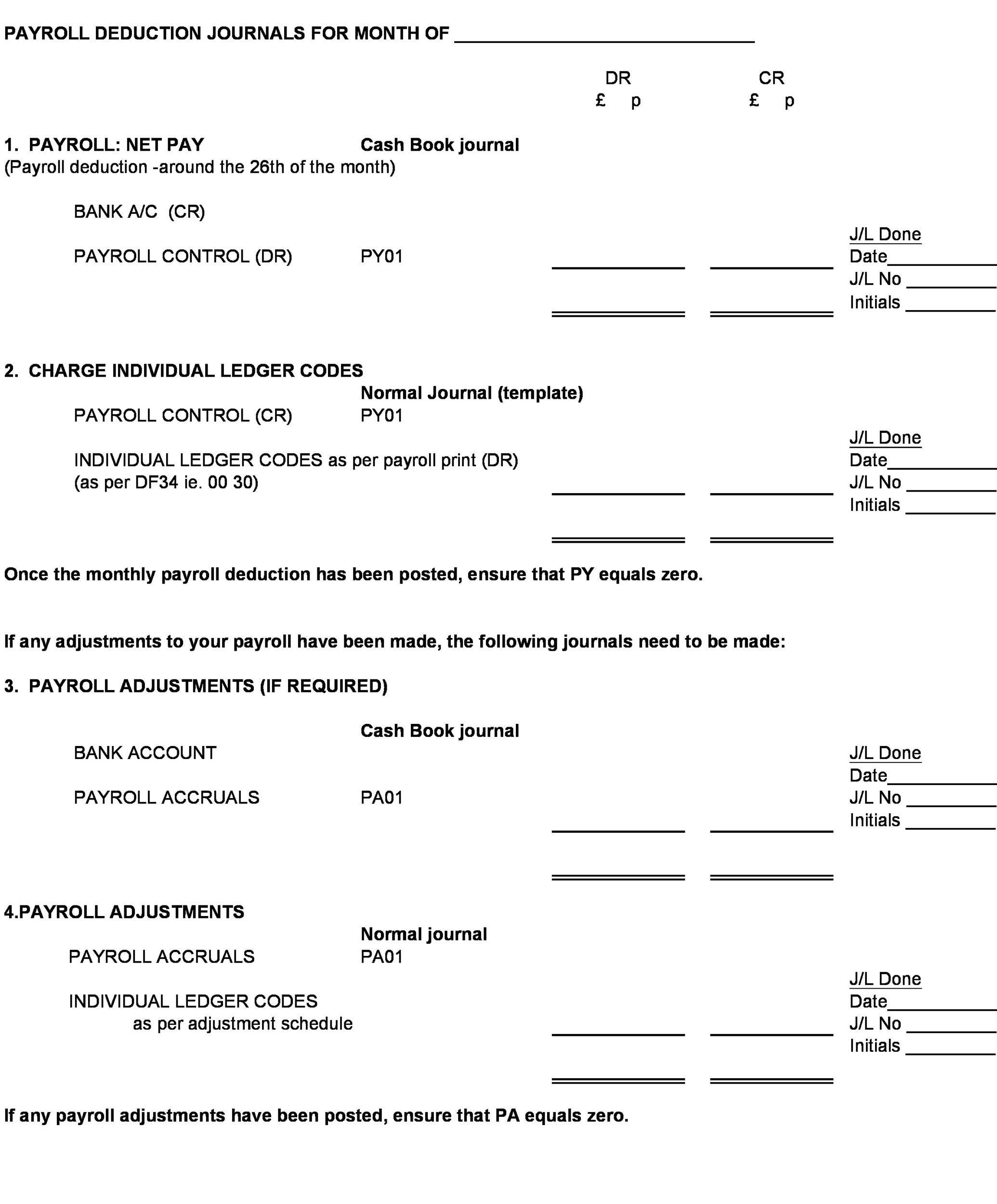 Free payroll template 14