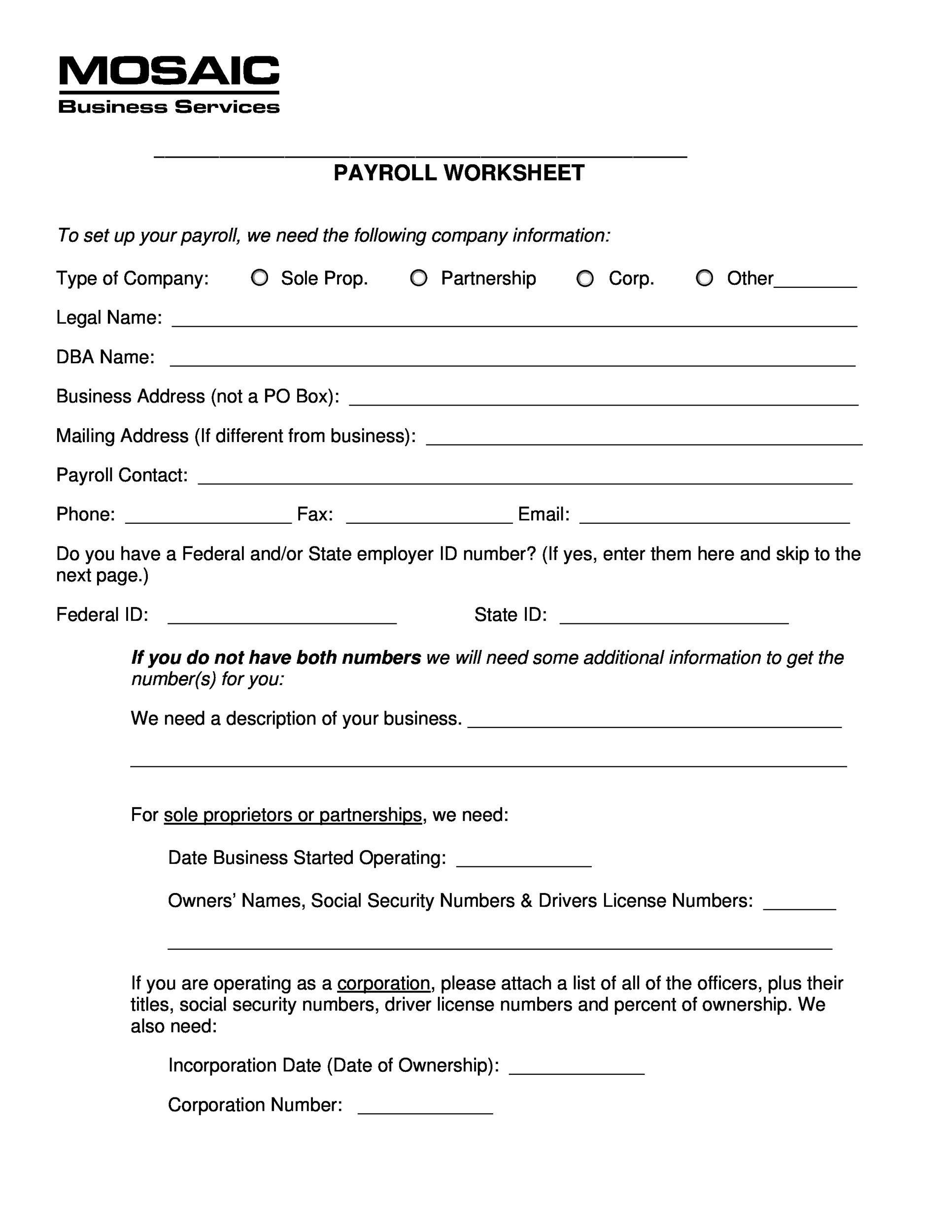Free payroll template 21