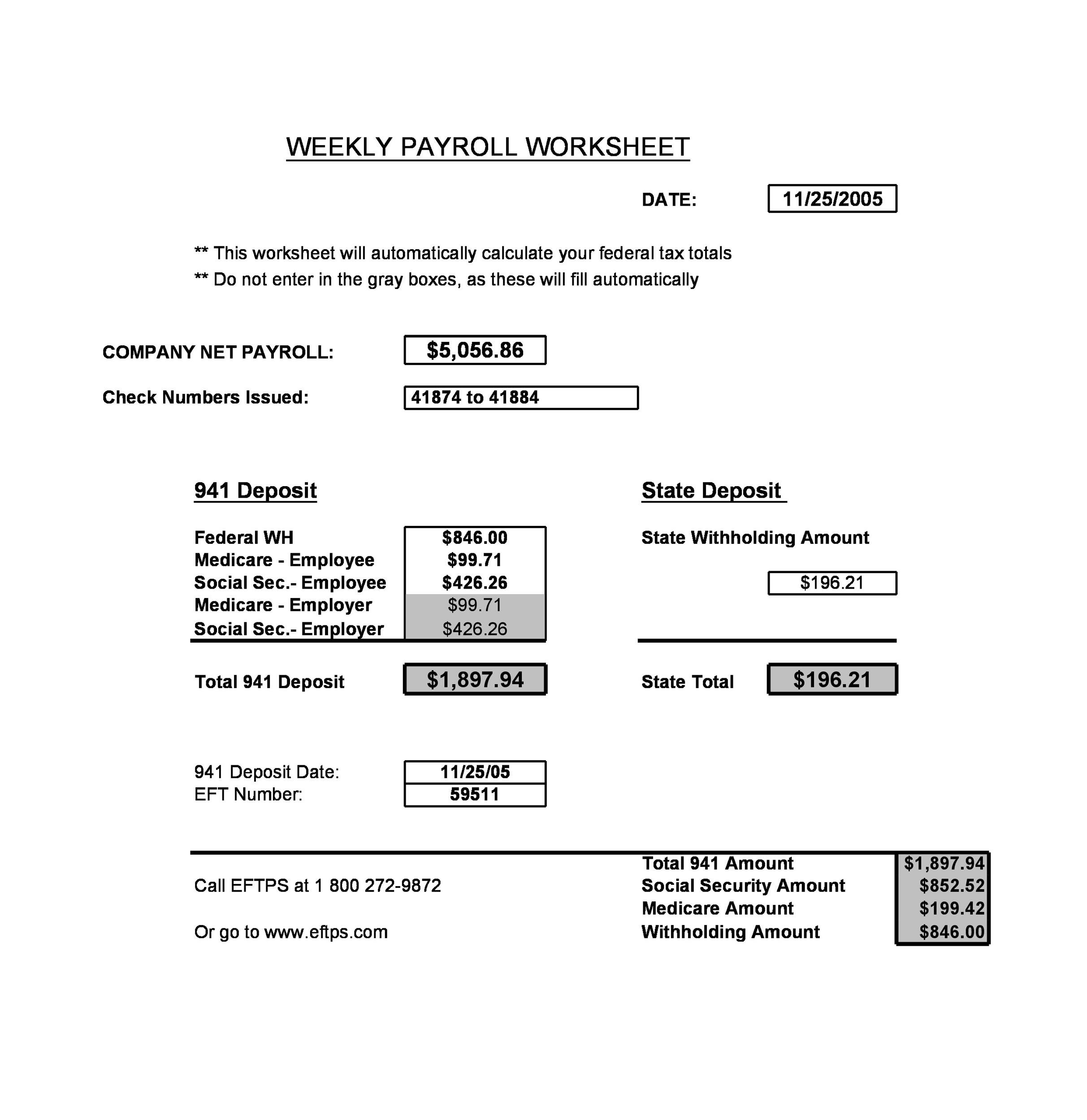 Free payroll template 23
