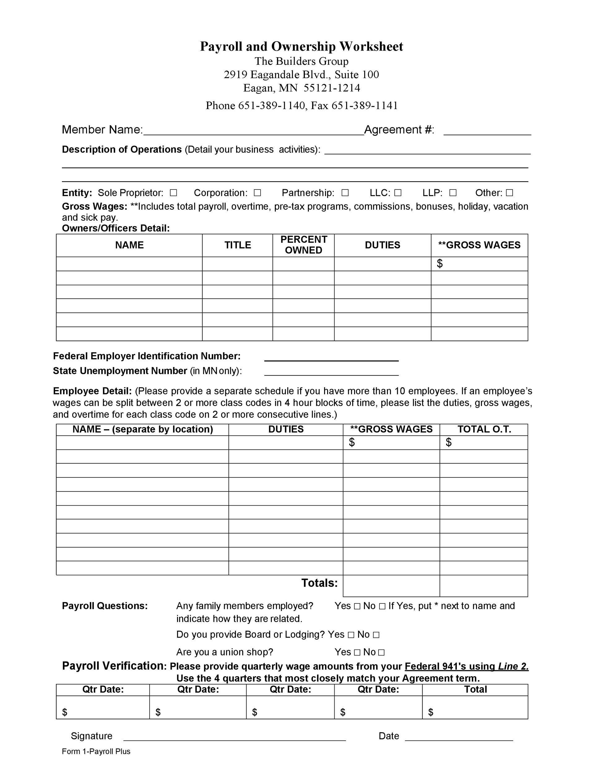 Free payroll template 28