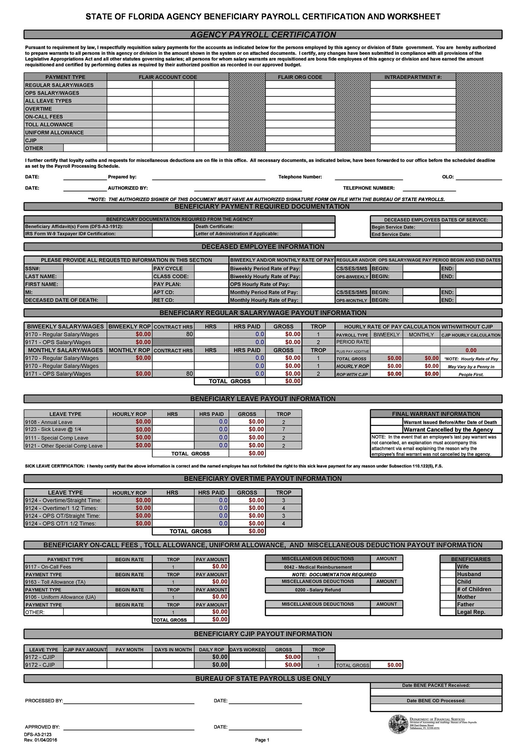Free payroll template 33