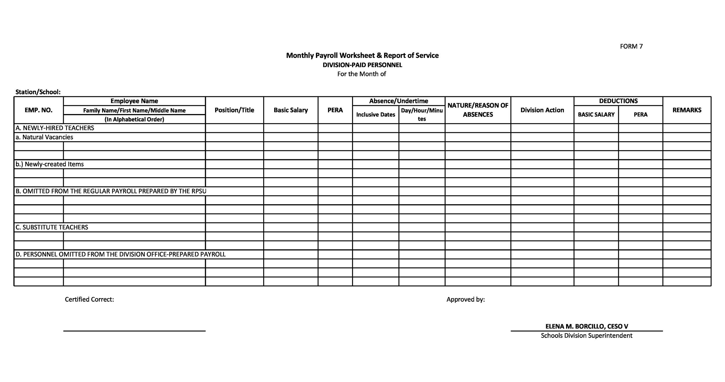 Free payroll template 34