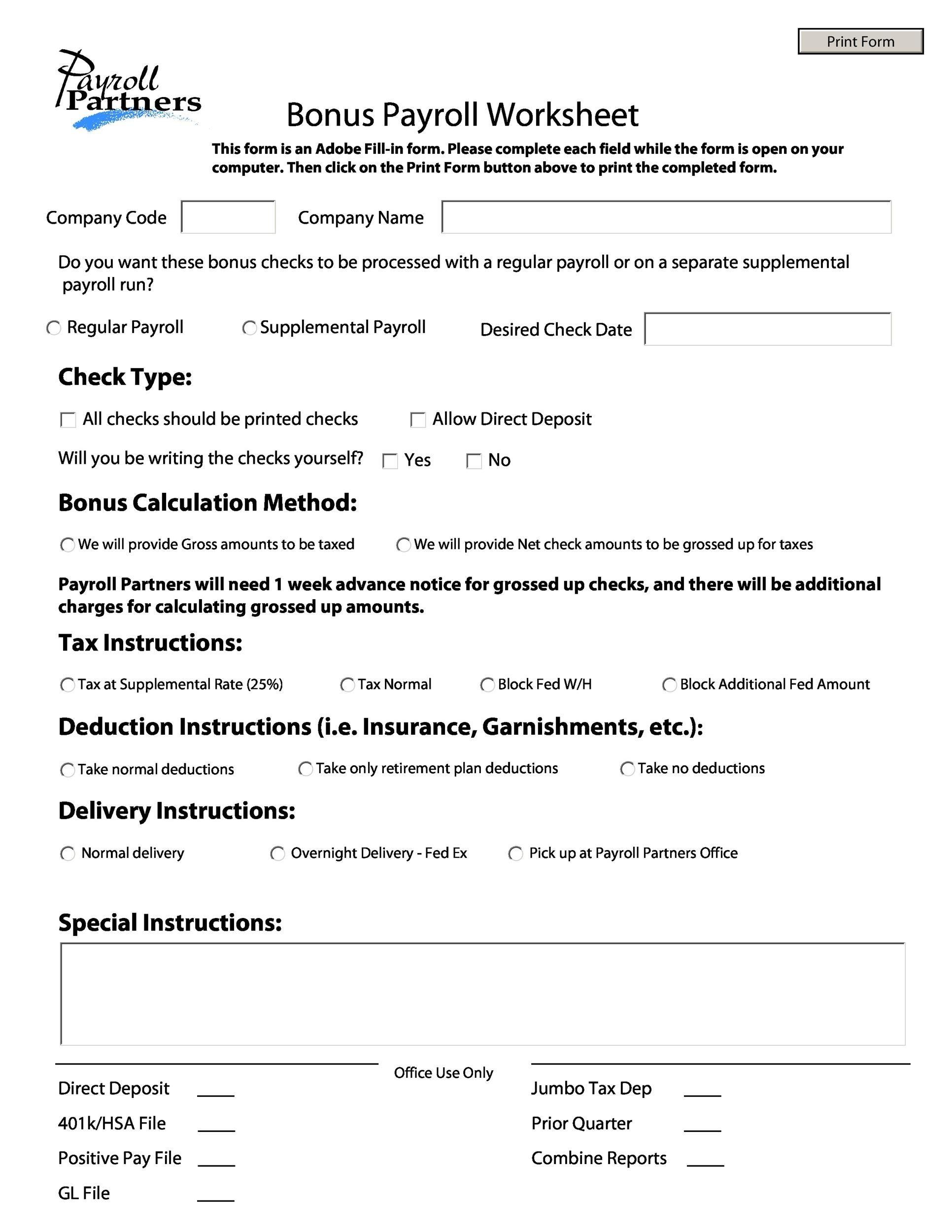 Free payroll template 38