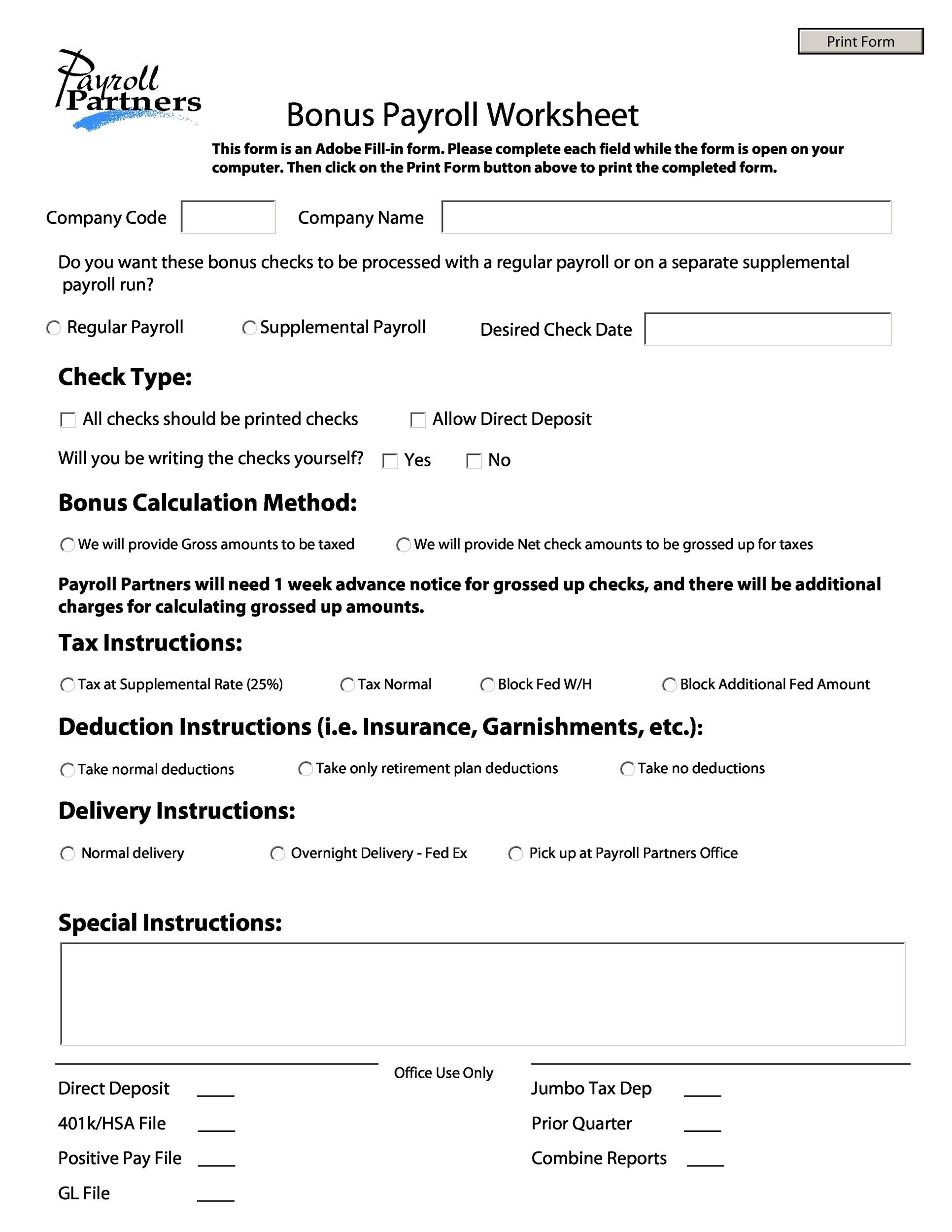 Free payroll template 38