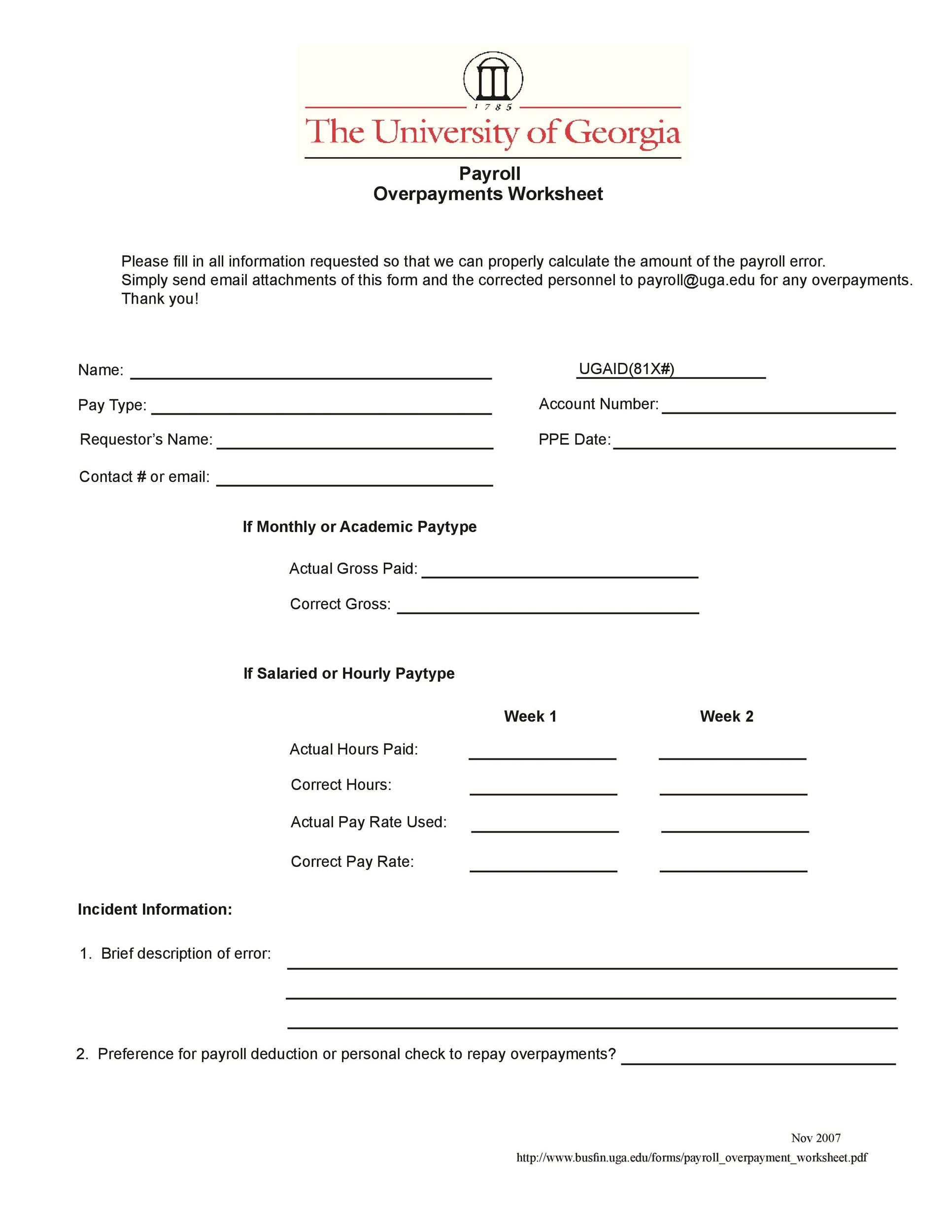 Free payroll template 41