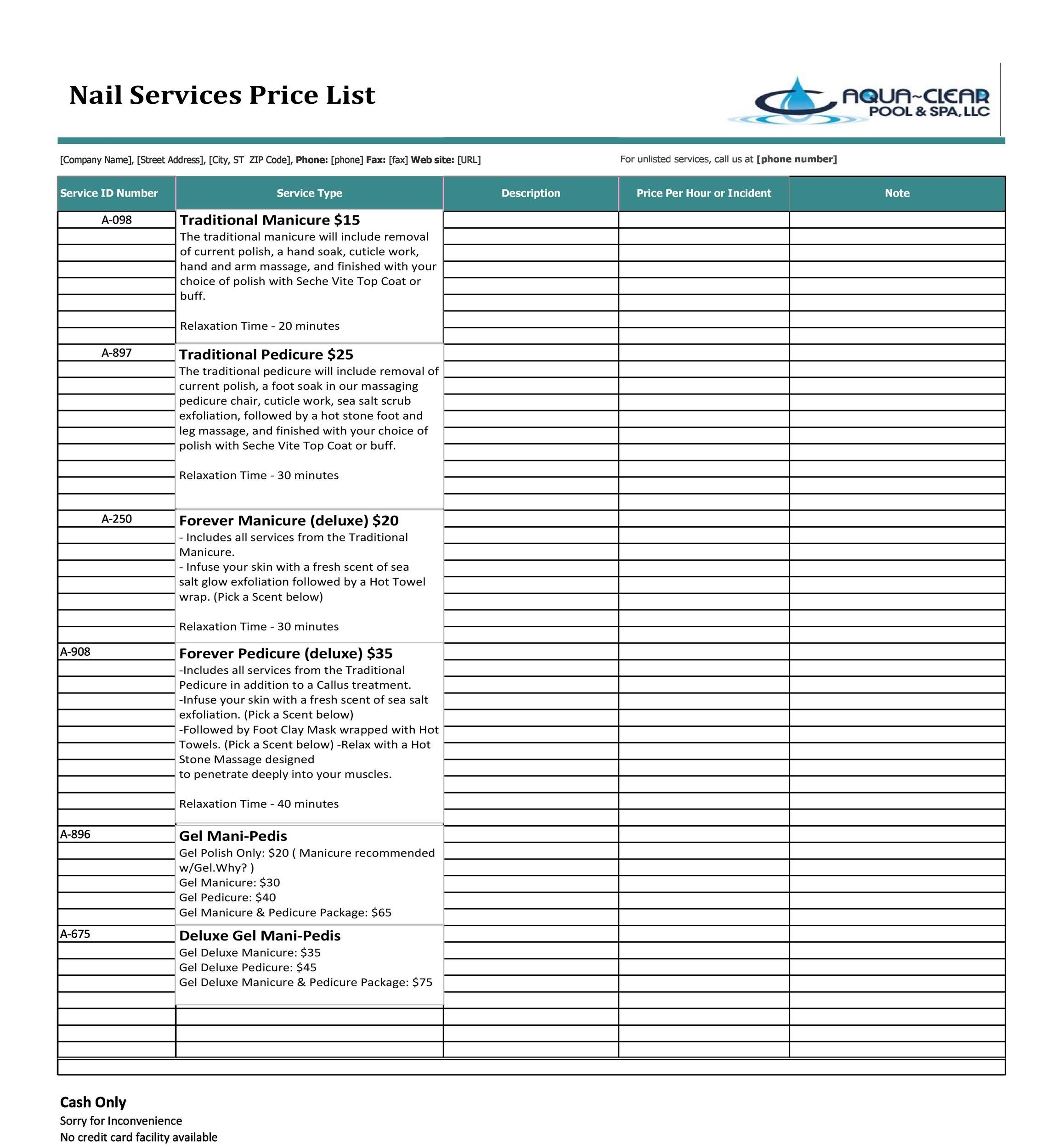 40 free price list templates price sheet templates template lab