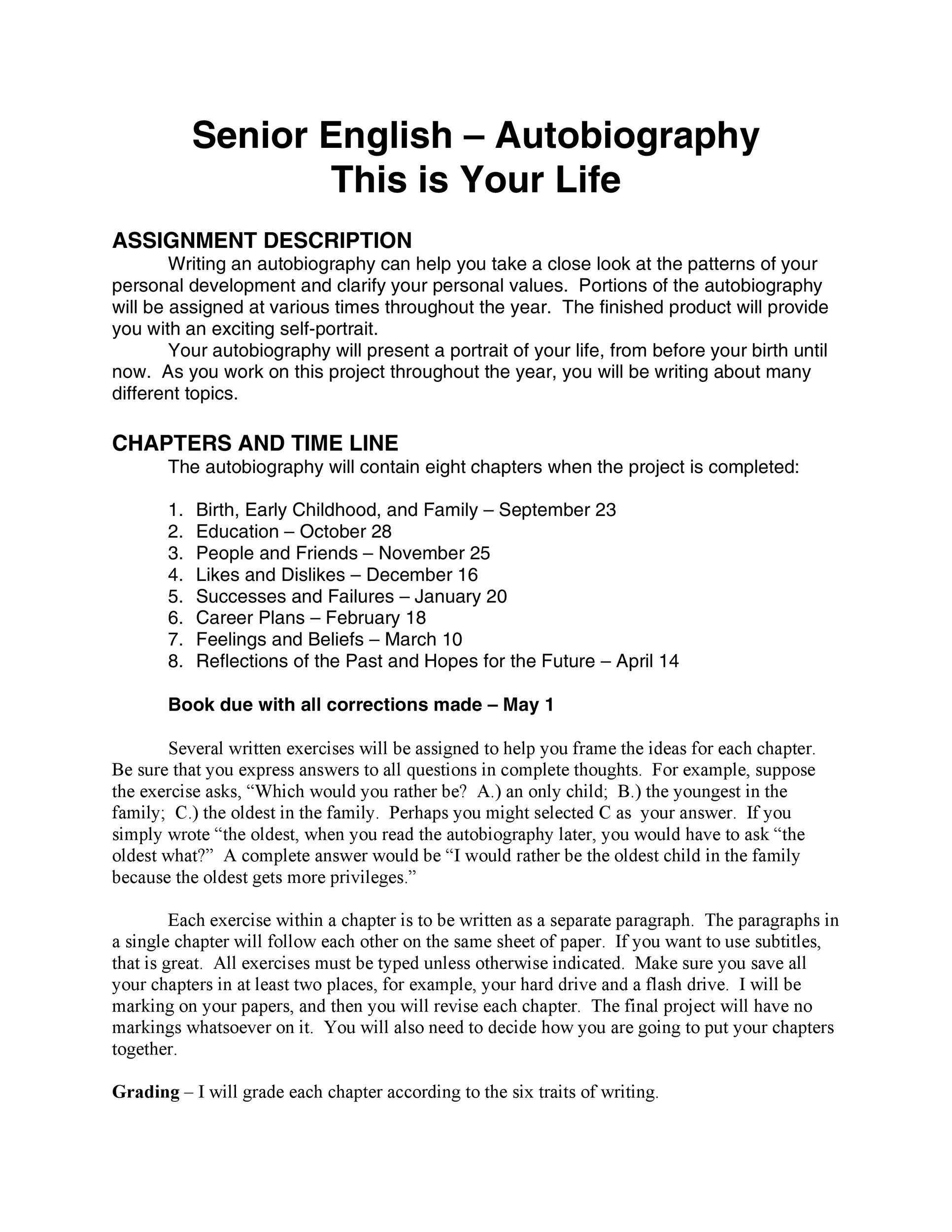 Free Autobiography Template 23