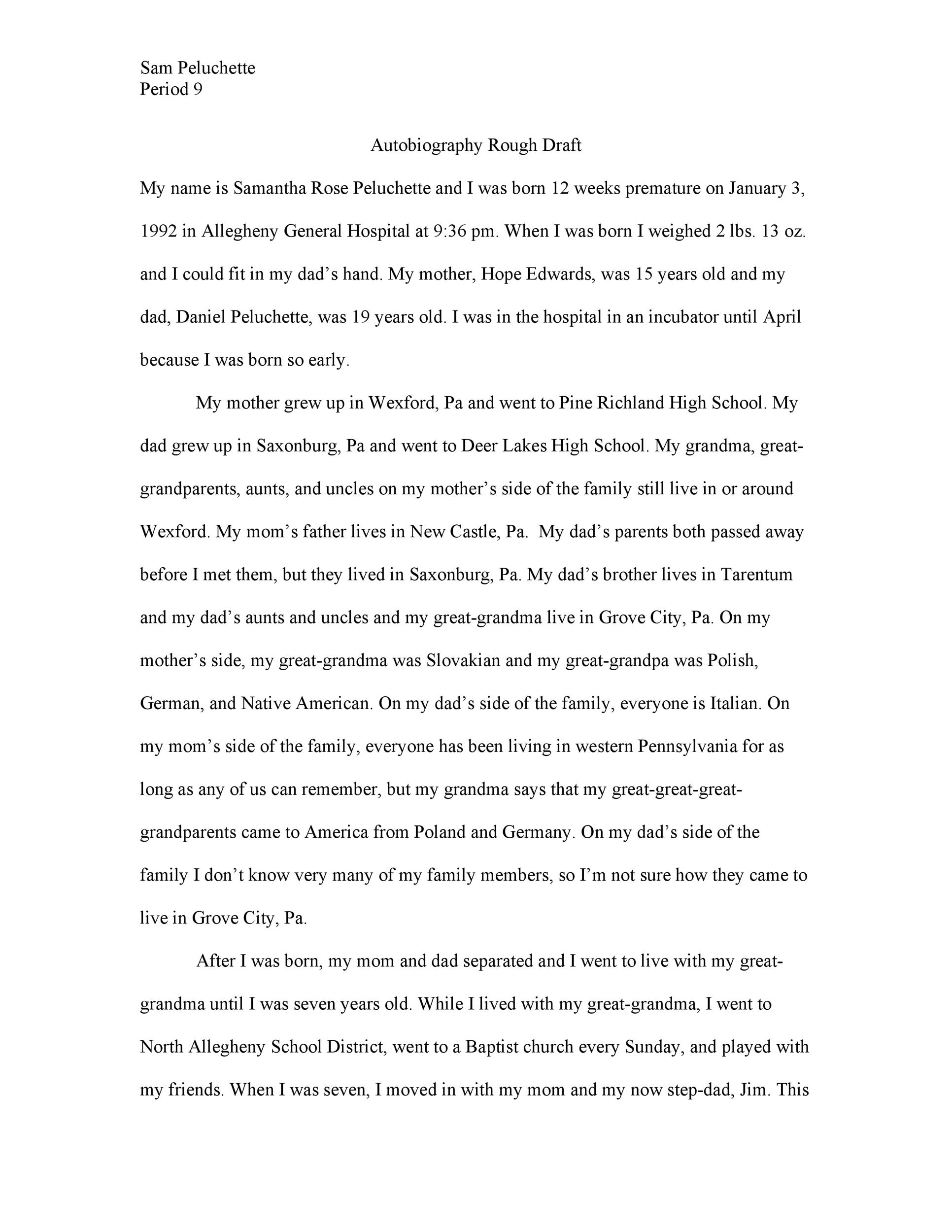 Free Autobiography Template 29