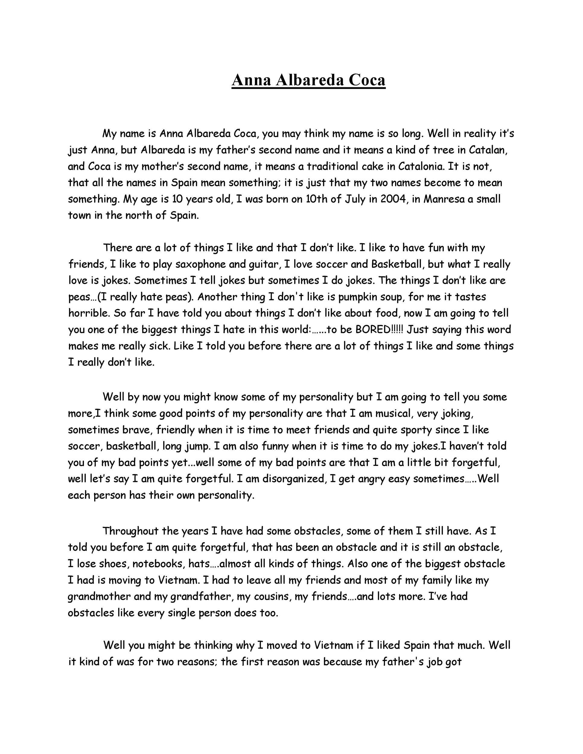 Free Autobiography Template 33