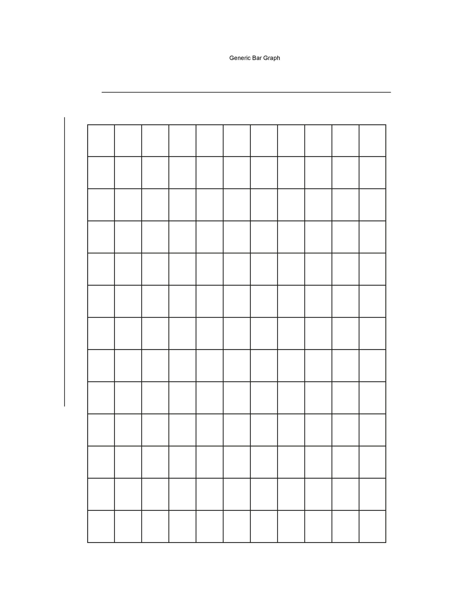 photo relating to Printable Bar Graph Template known as 41 Blank Bar Graph Templates [Bar Graph Worksheets] ᐅ