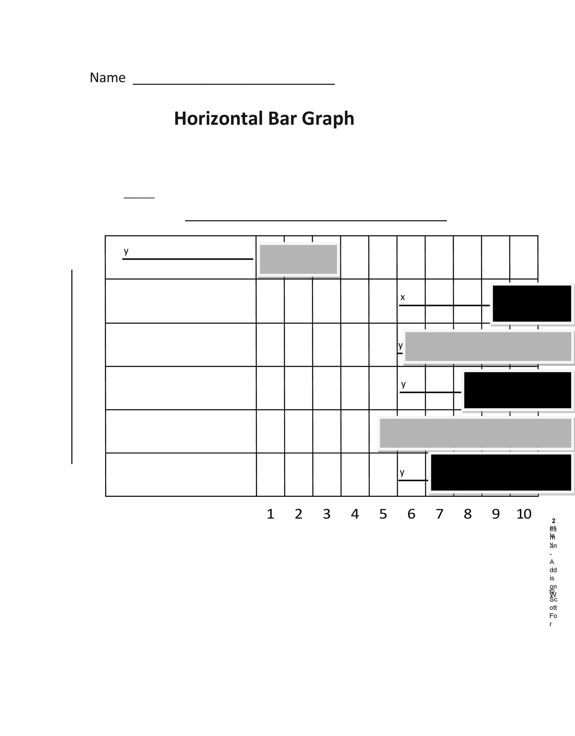 Free Bar Graph Template 07