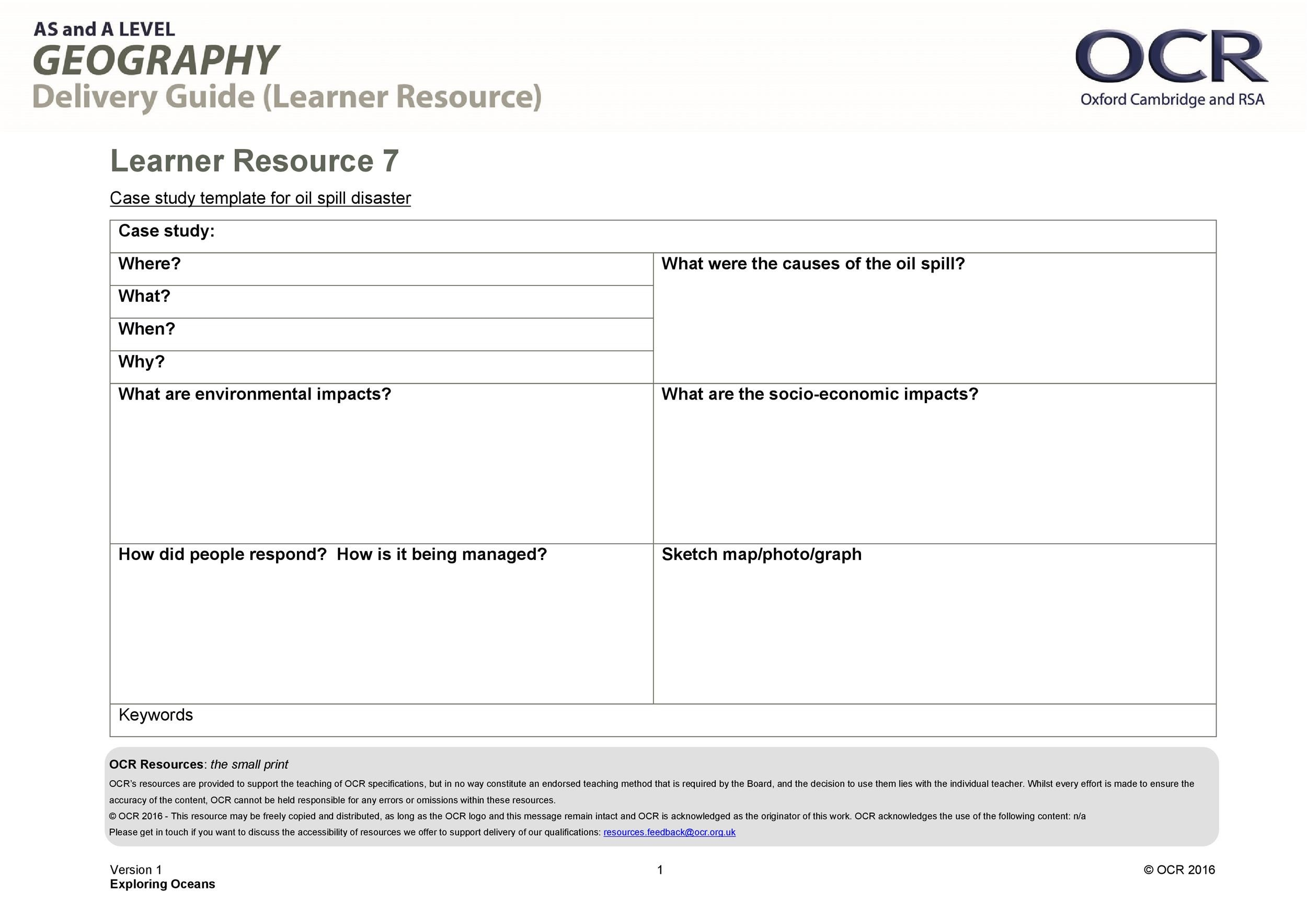 Free Case Study Template 10