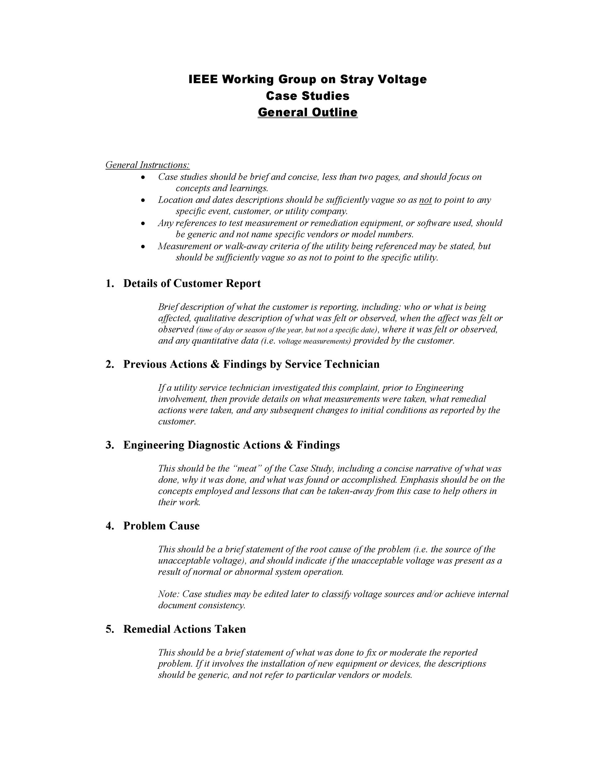Free Case Study Template 11