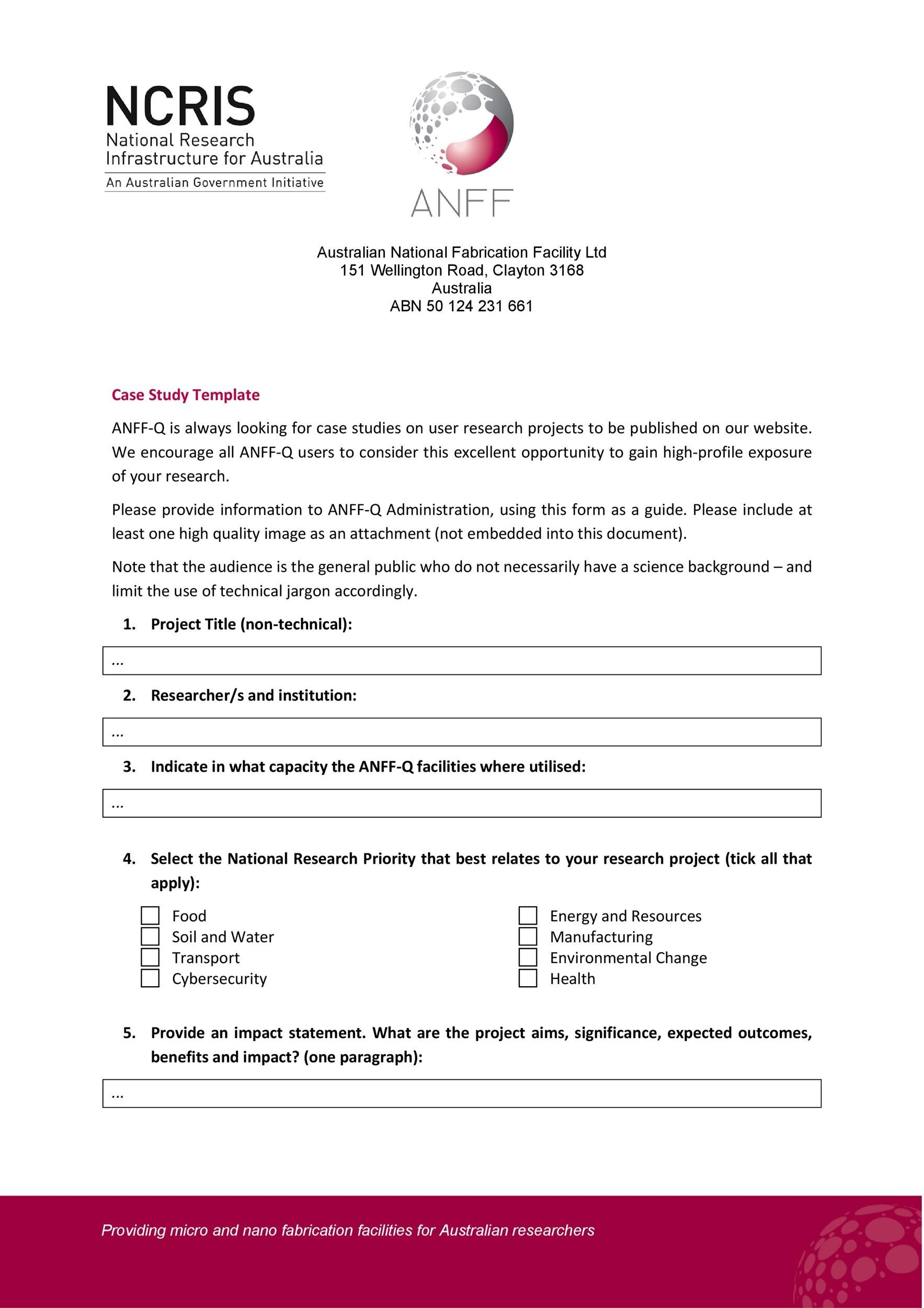 Free Case Study Template 14