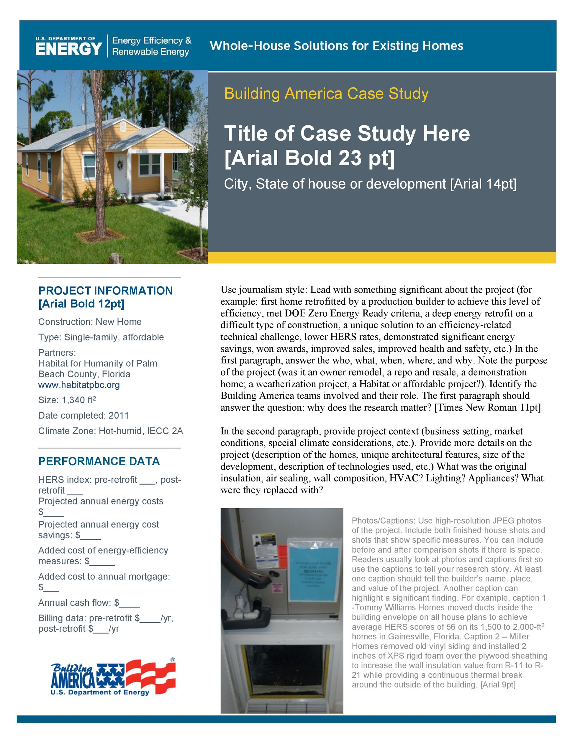 Free Case Study Template 17