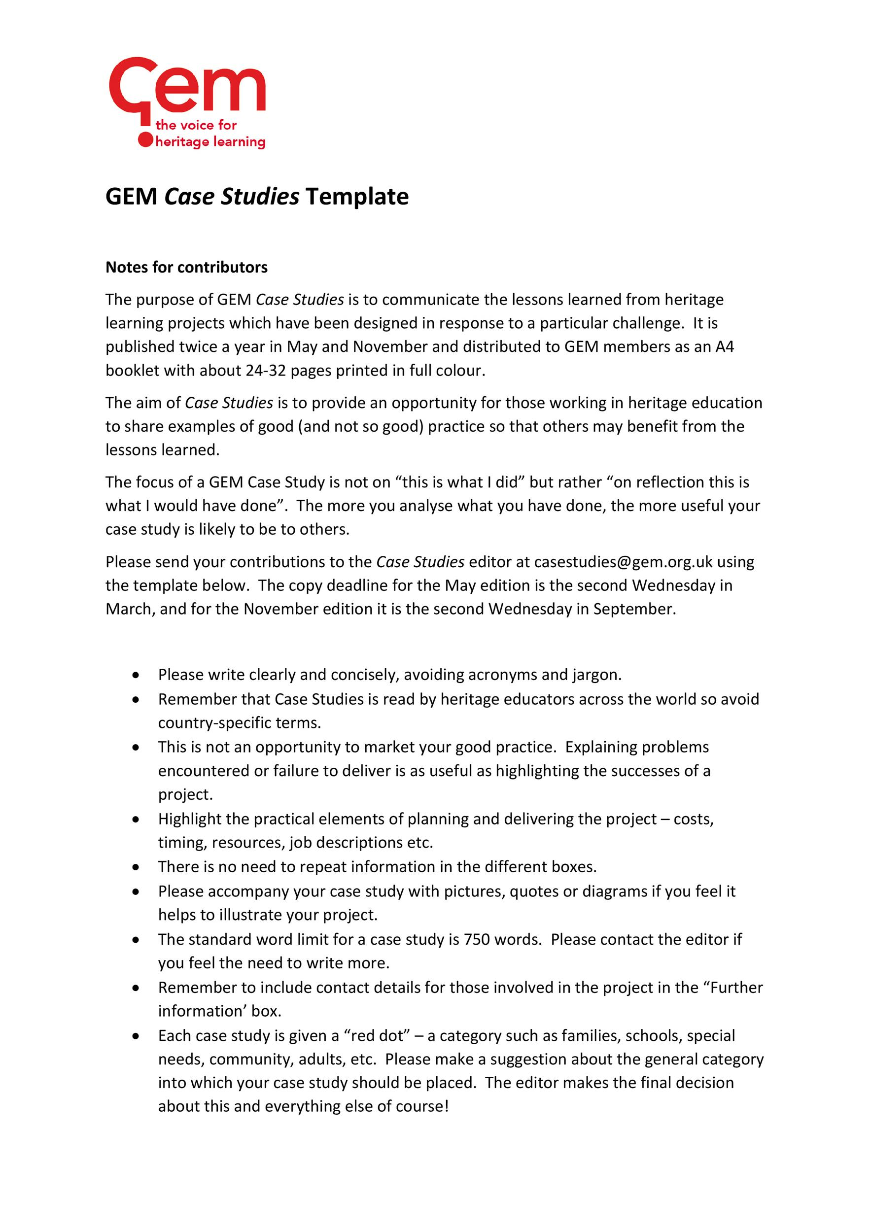 Free Case Study Template 18
