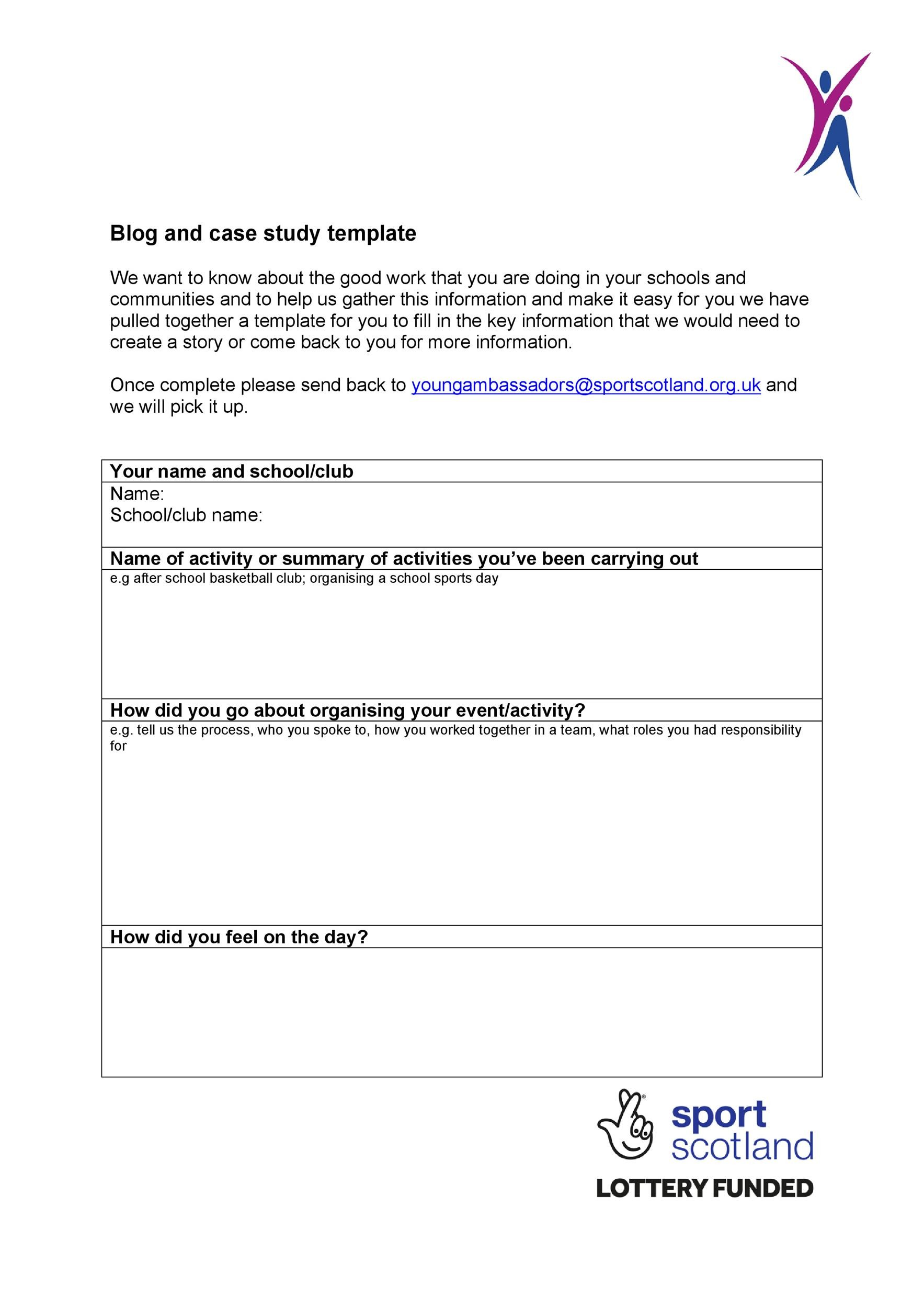 Free Case Study Template 22