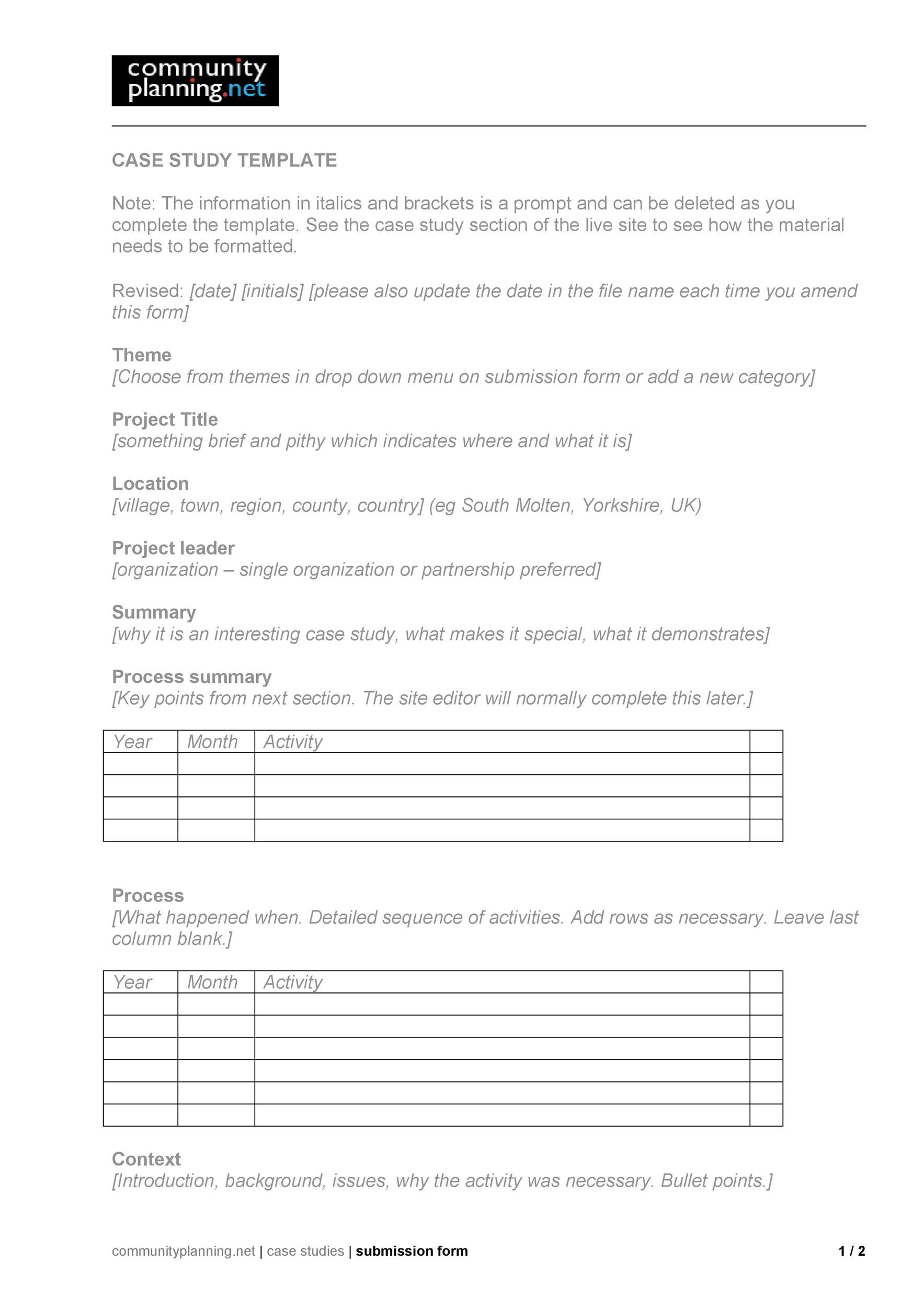 Free Case Study Template 29