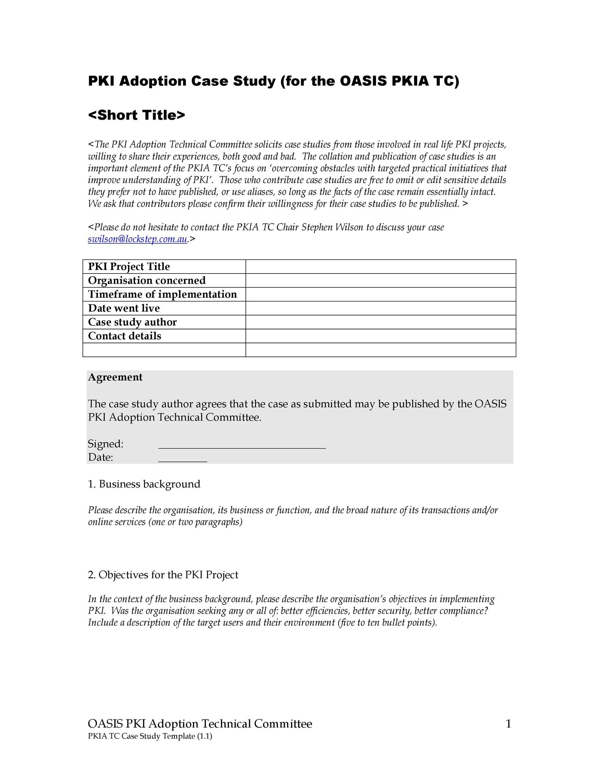 Free Case Study Template 41