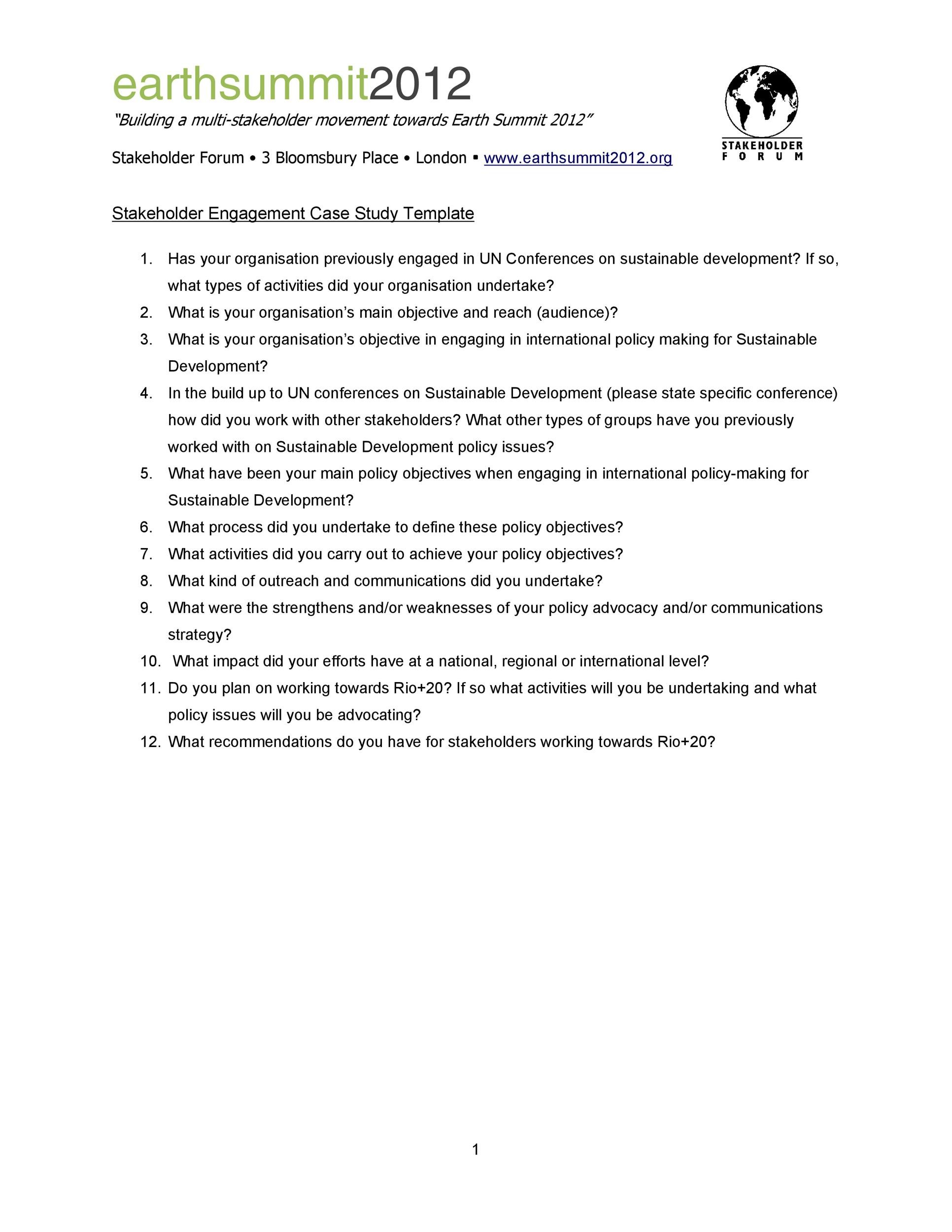 Free Case Study Template 42