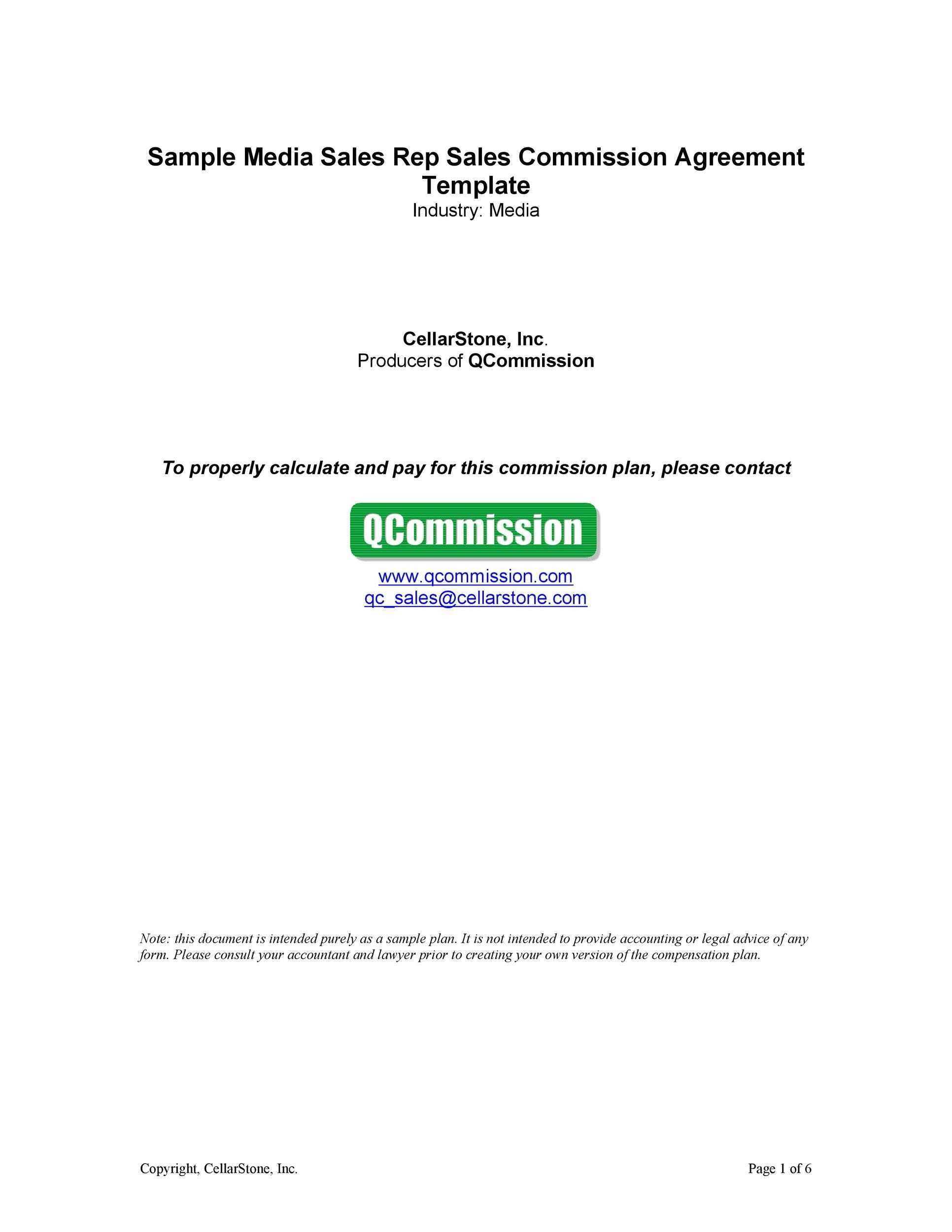 36 Free Commission Agreements Sales Real Estate Contractor