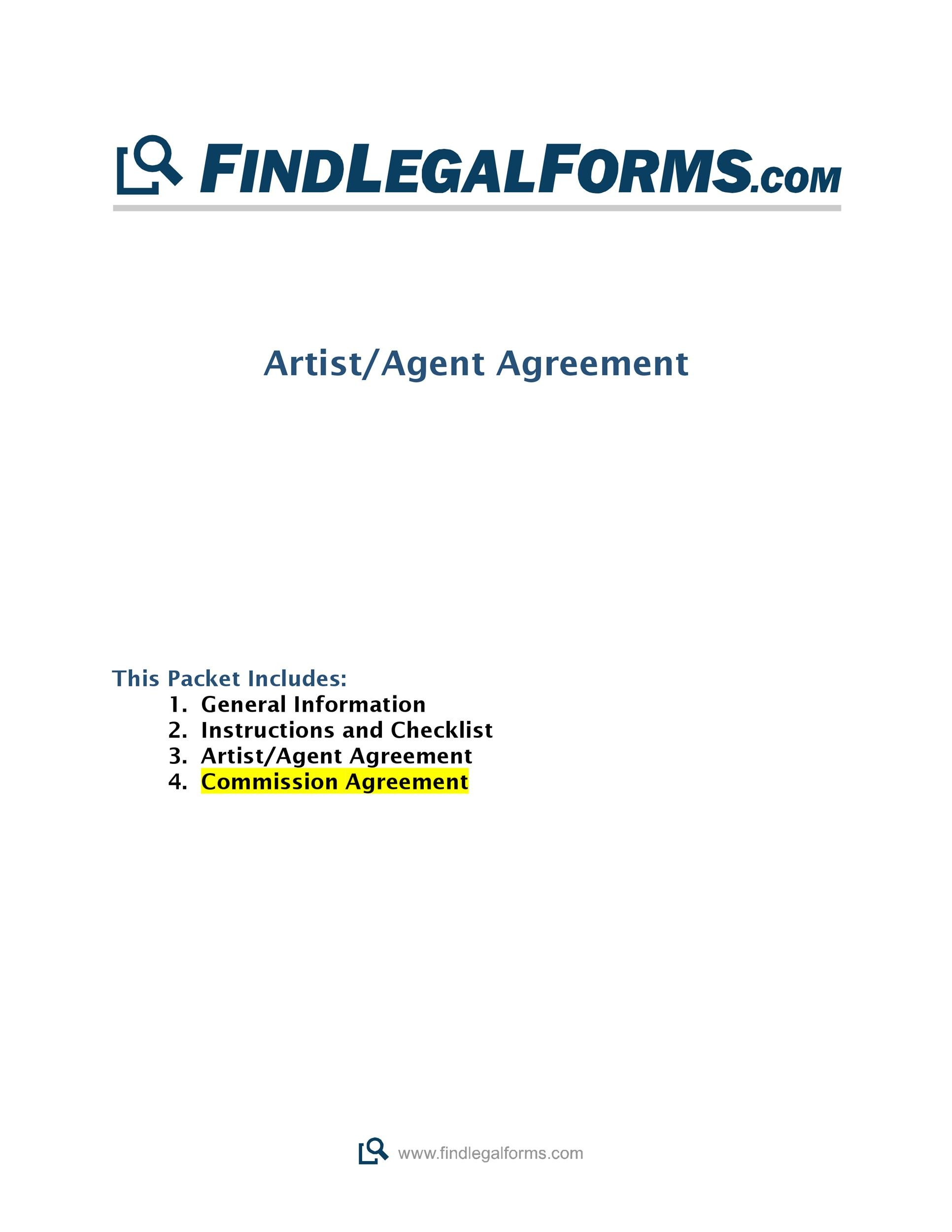 Free Commission Agreement Template 03