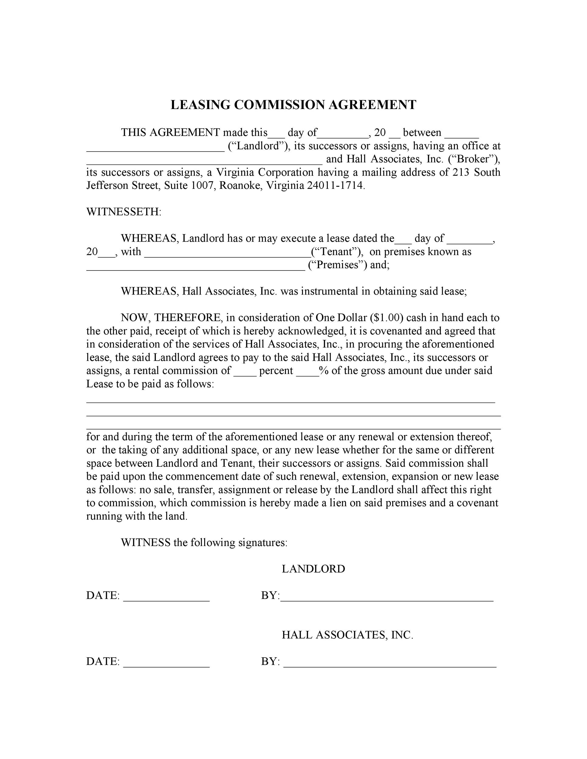 Free Commission Agreement Template 12