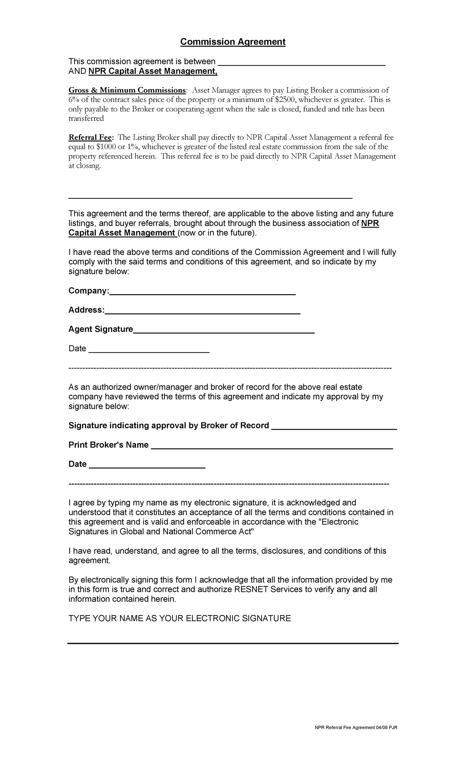 Free Commission Agreement Template 13