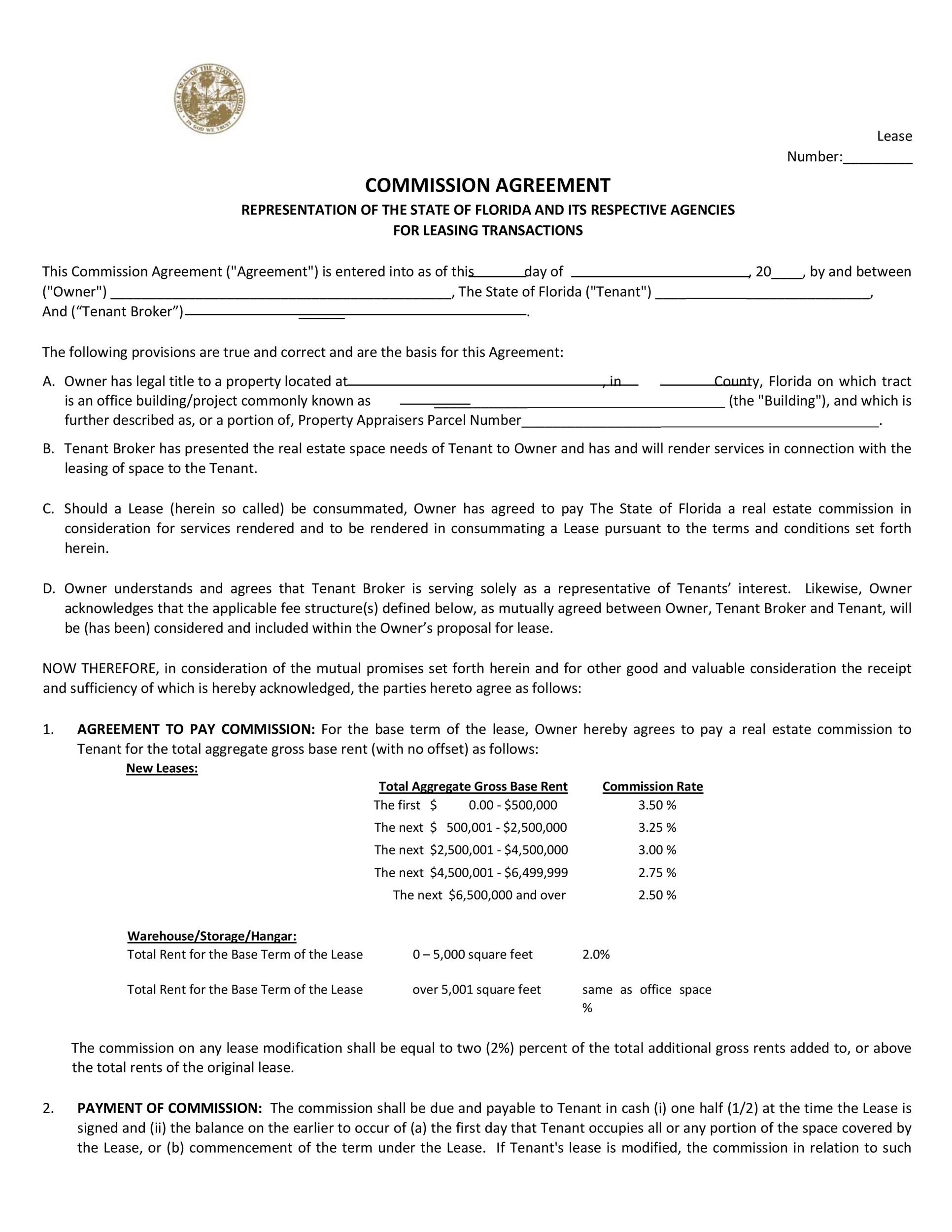 Free Commission Agreement Template 16