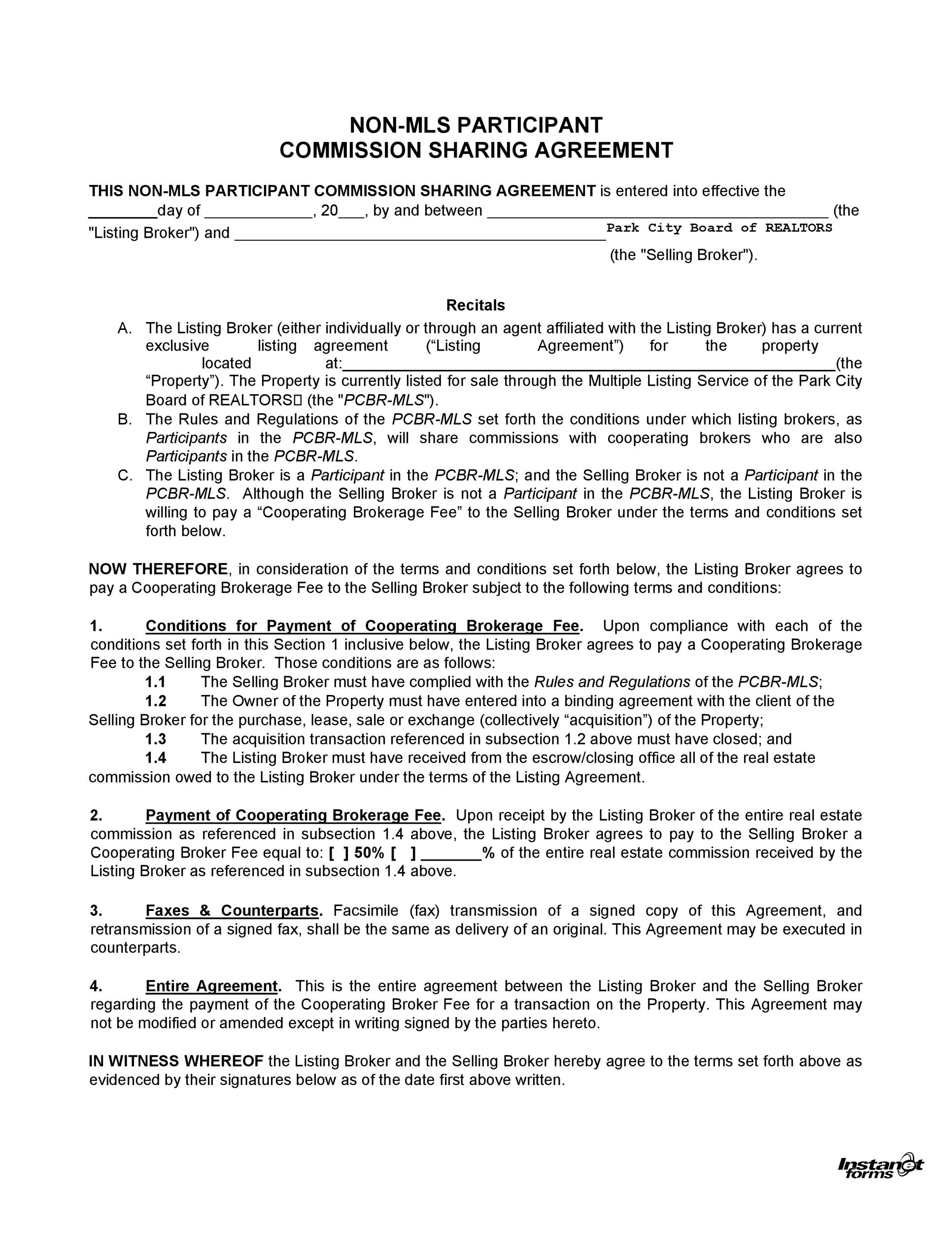 Free Commission Agreement Template 18