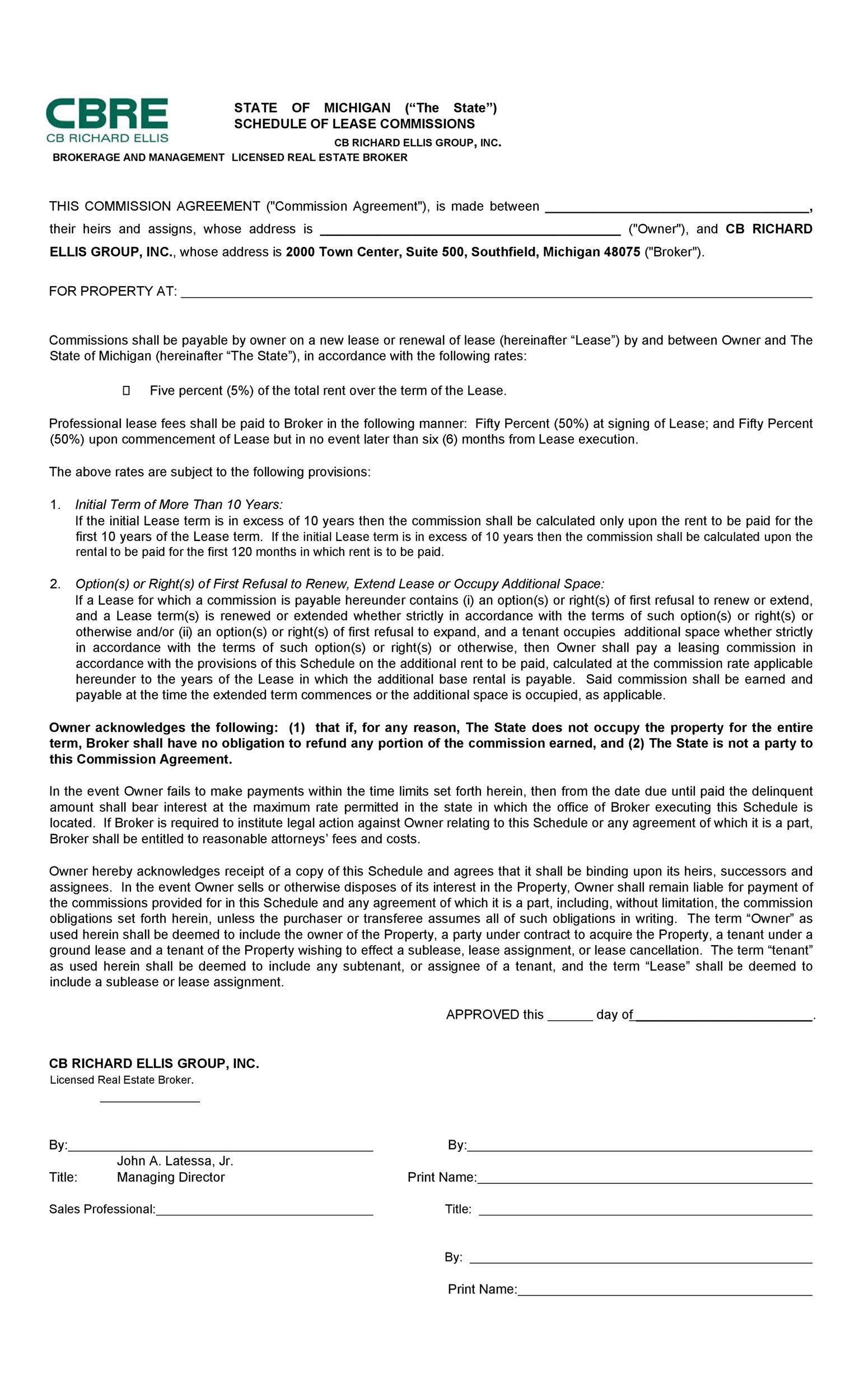 Free Commission Agreement Template 20
