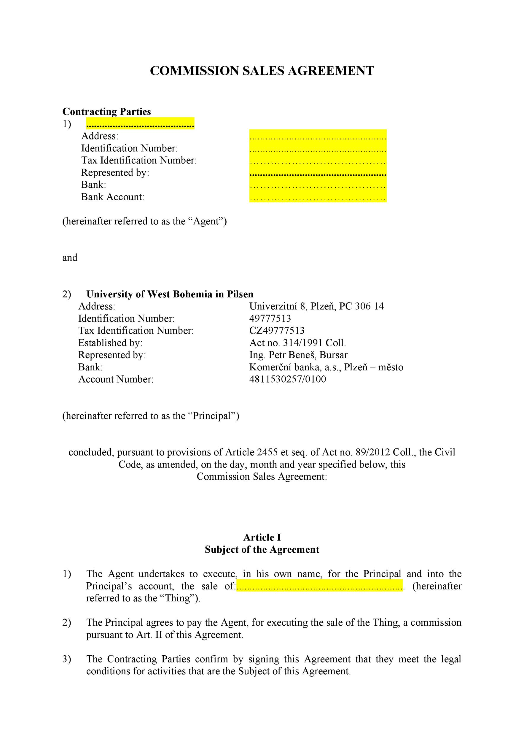 Free Commission Agreement Template 21