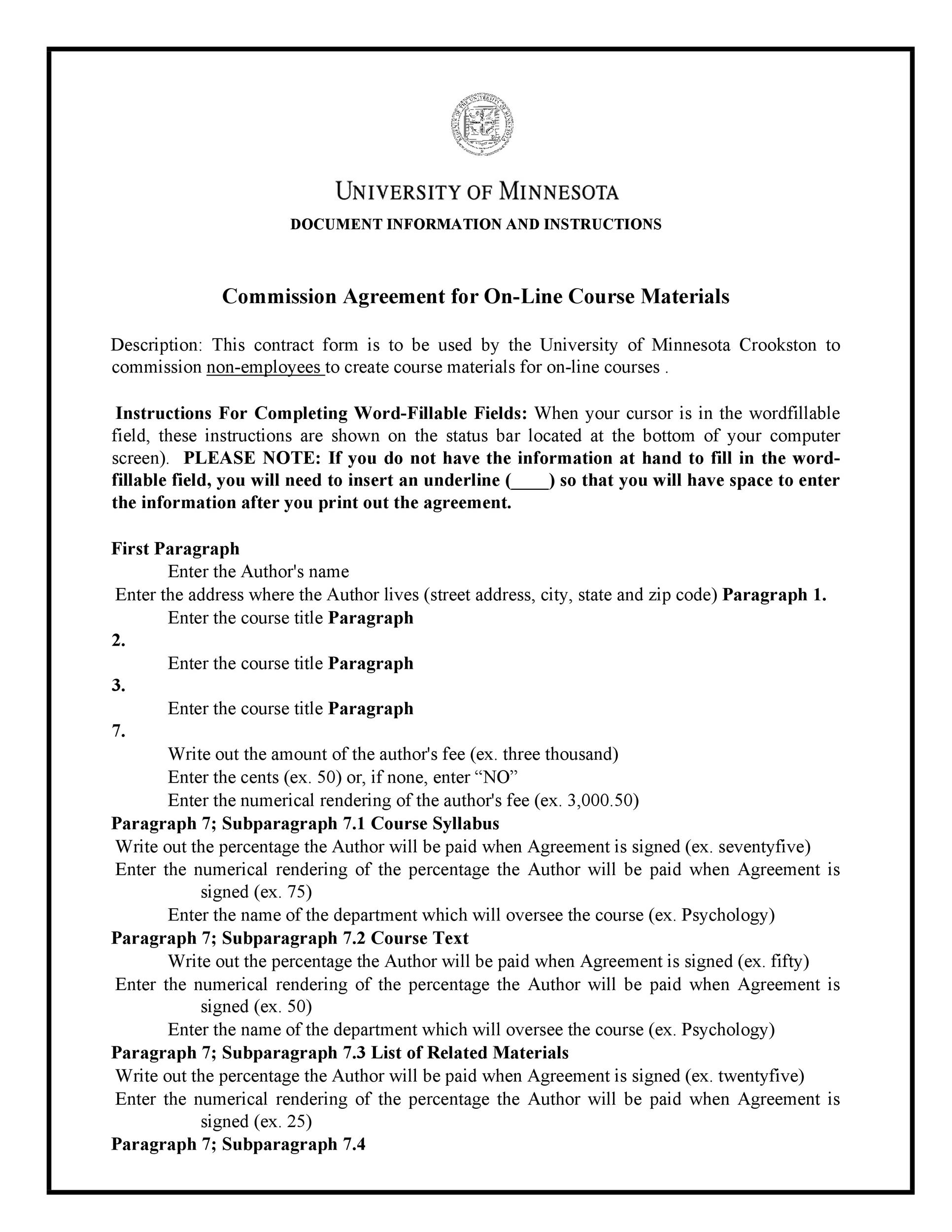 Free Commission Agreement Template 22
