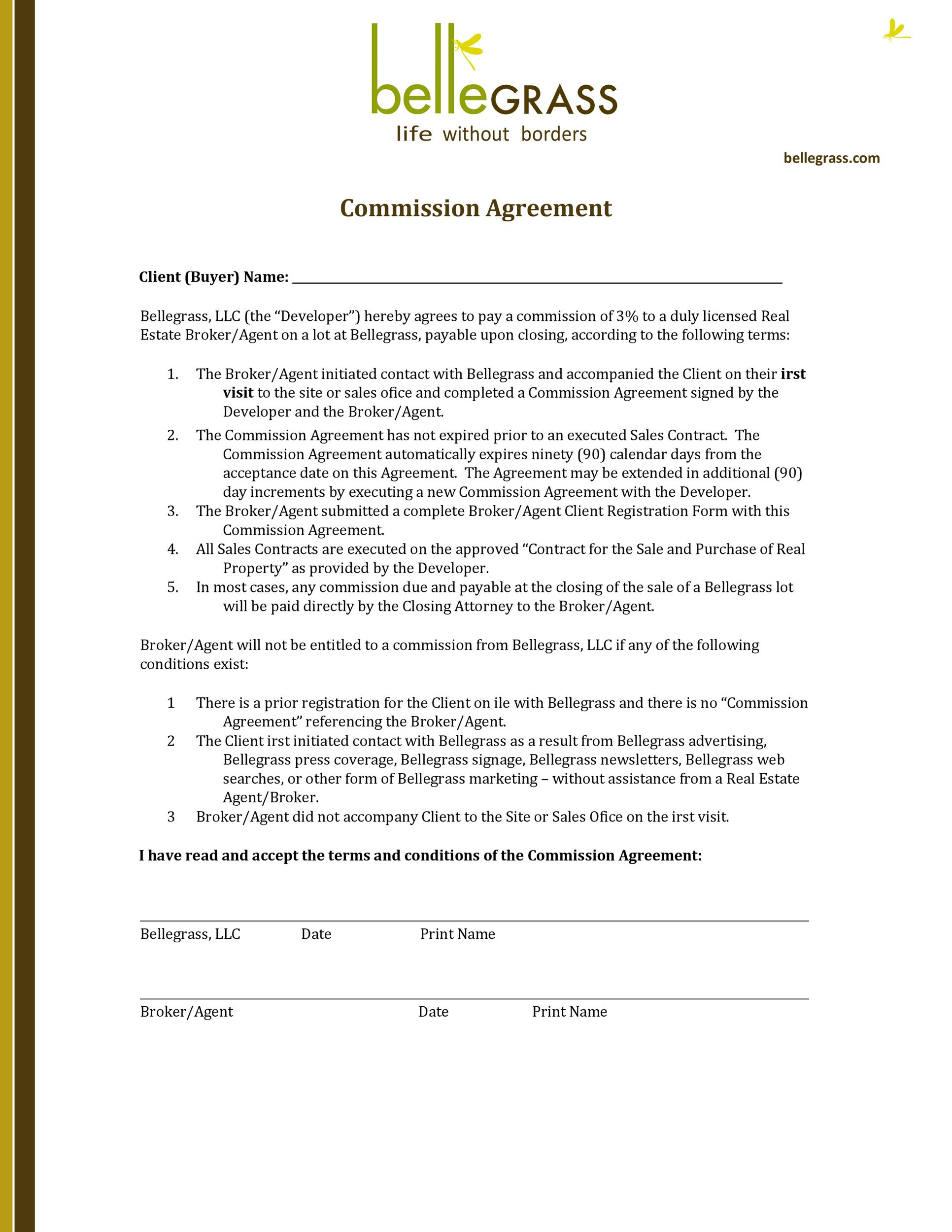 Free Commission Agreement Template 24