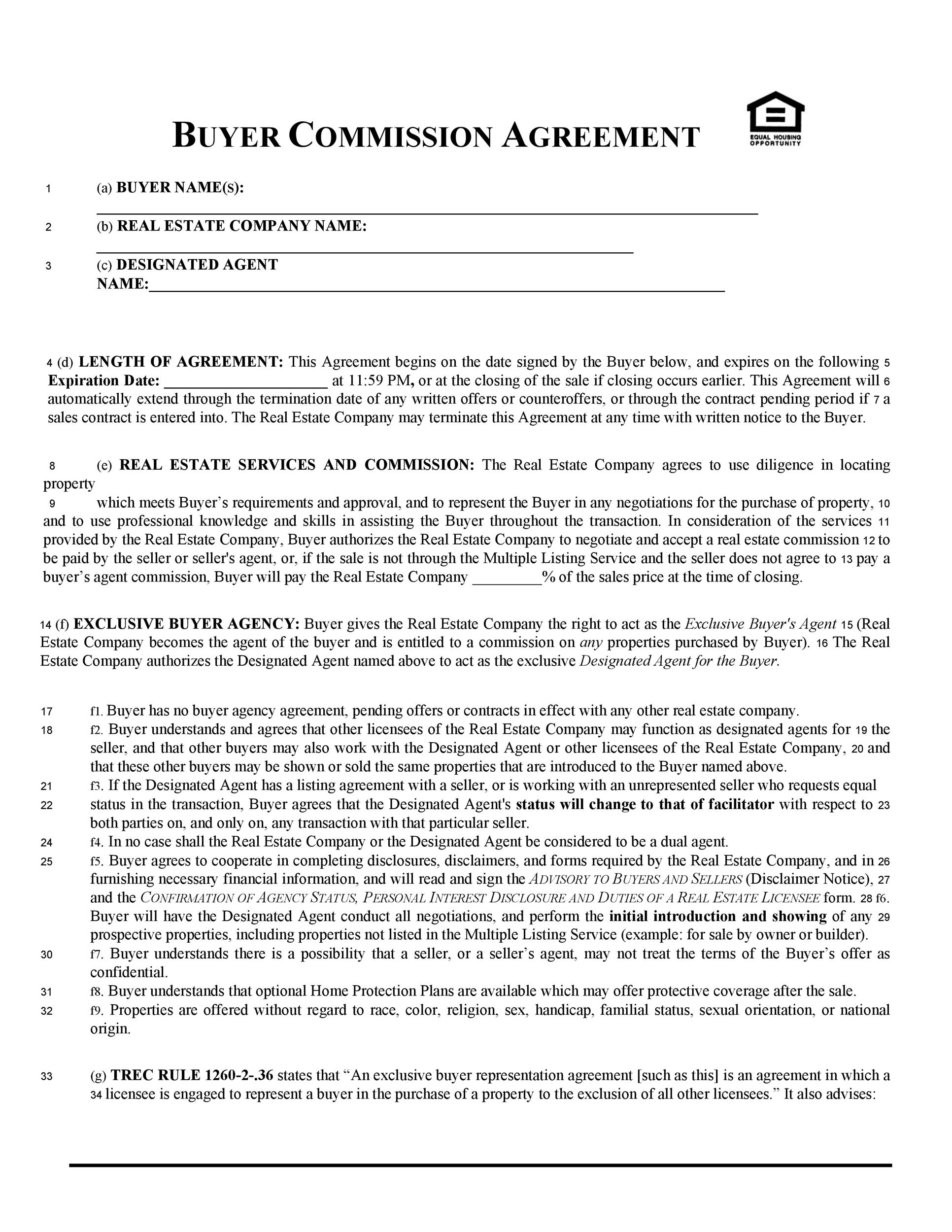 Free Commission Agreement Template 25