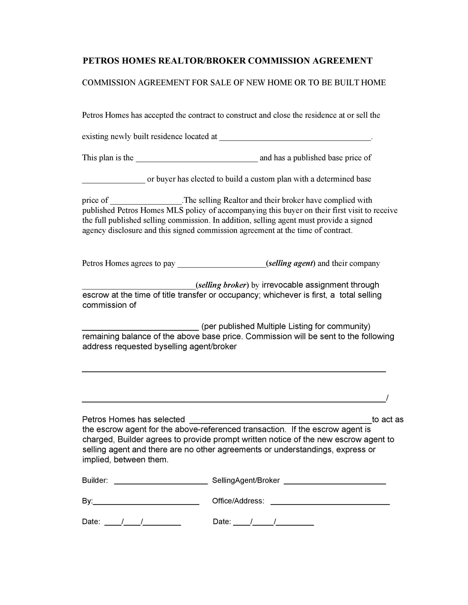Free Commission Agreement Template 26