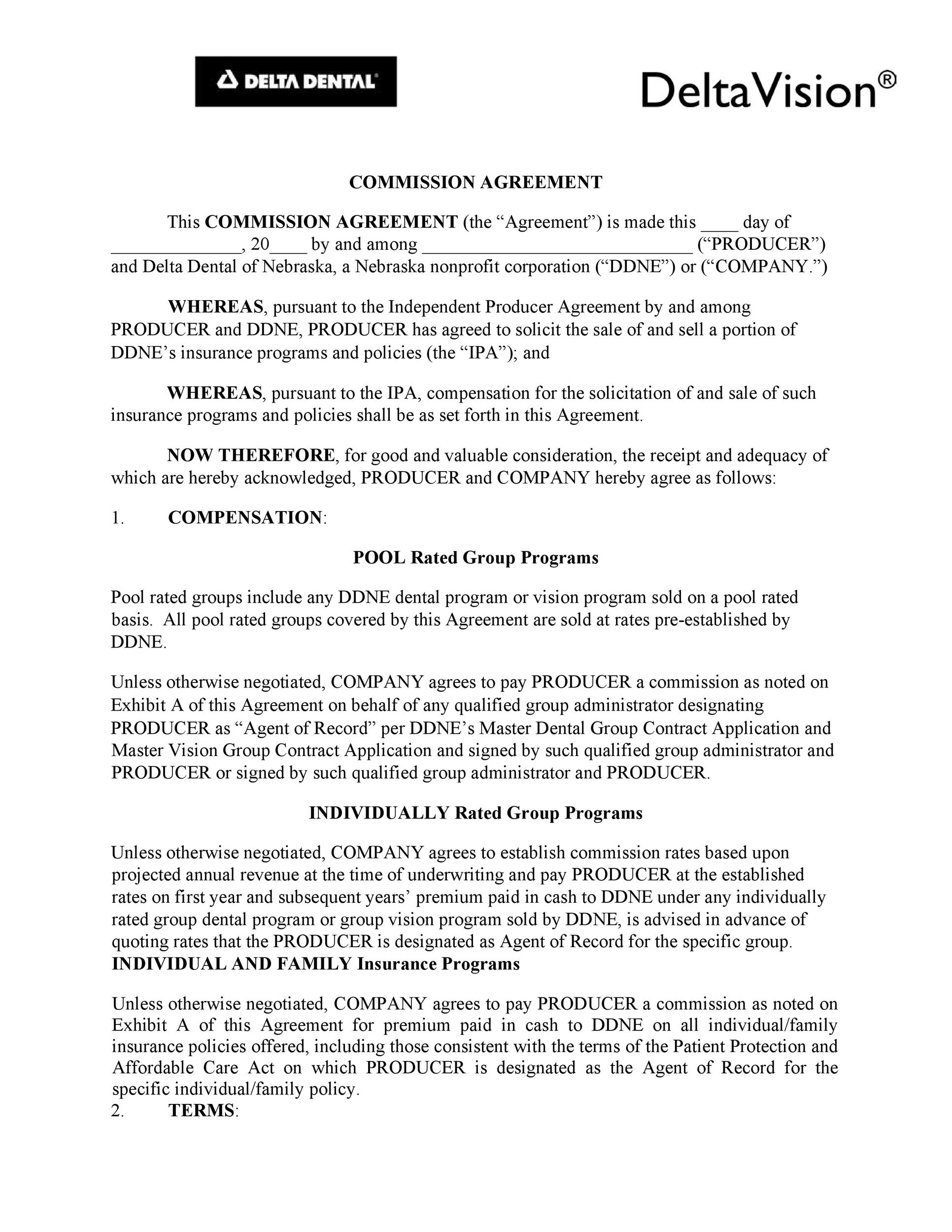Free Commission Agreement Template 27