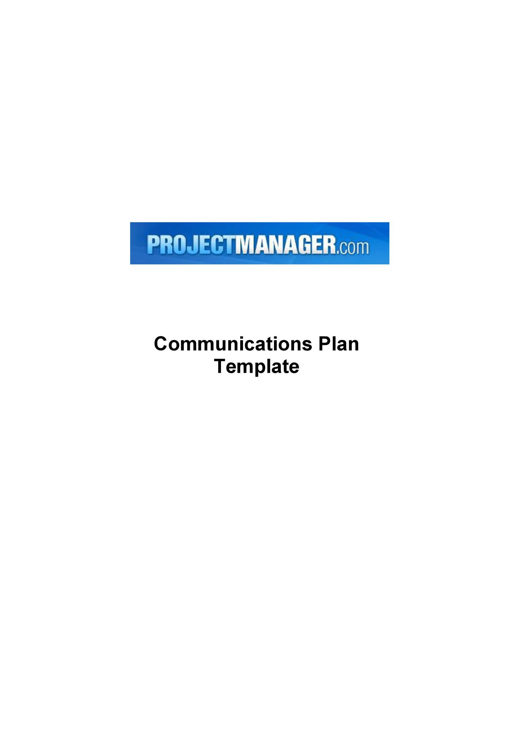 how to write a simple communications plan