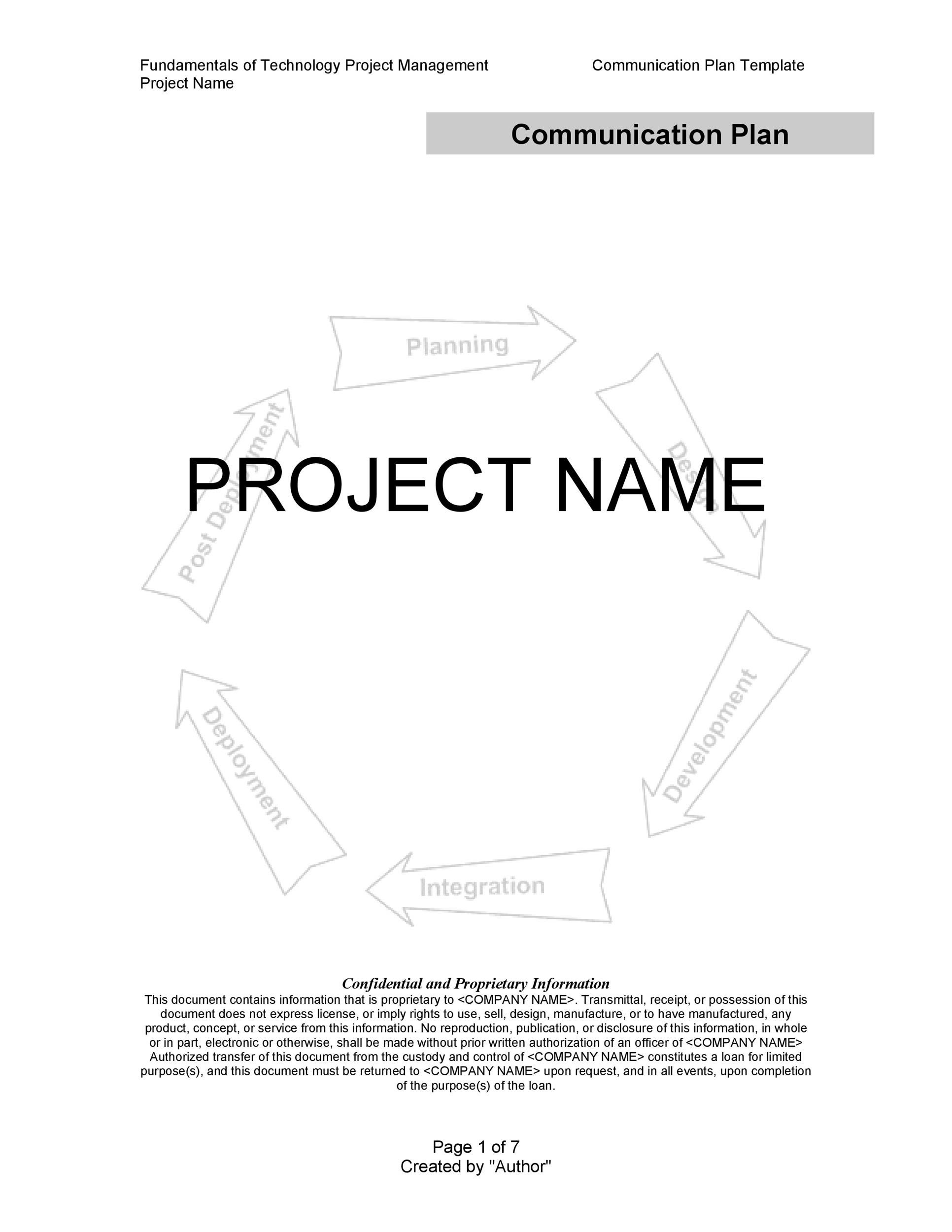 Free Communication Plan Template 06