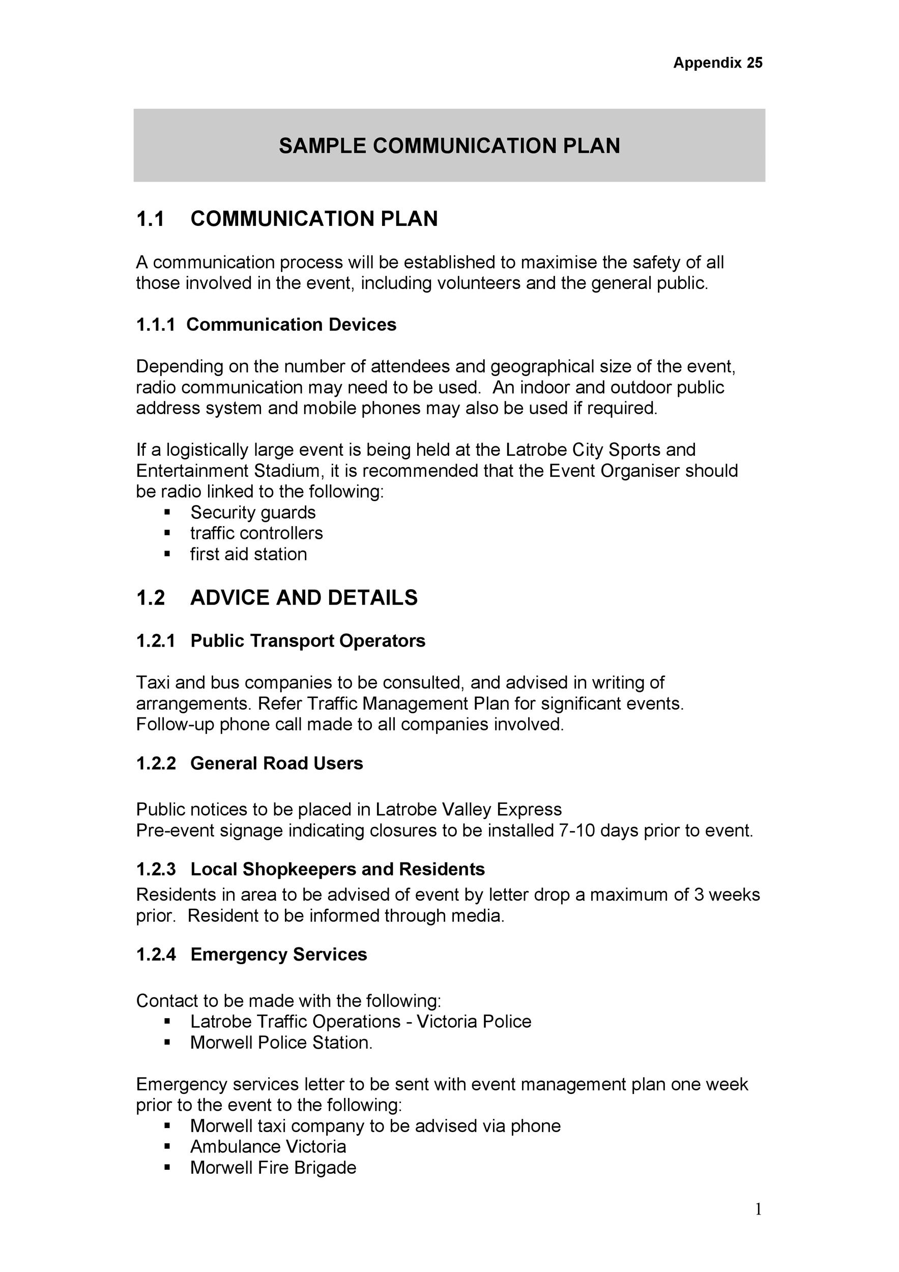 Free Communication Plan Template 09