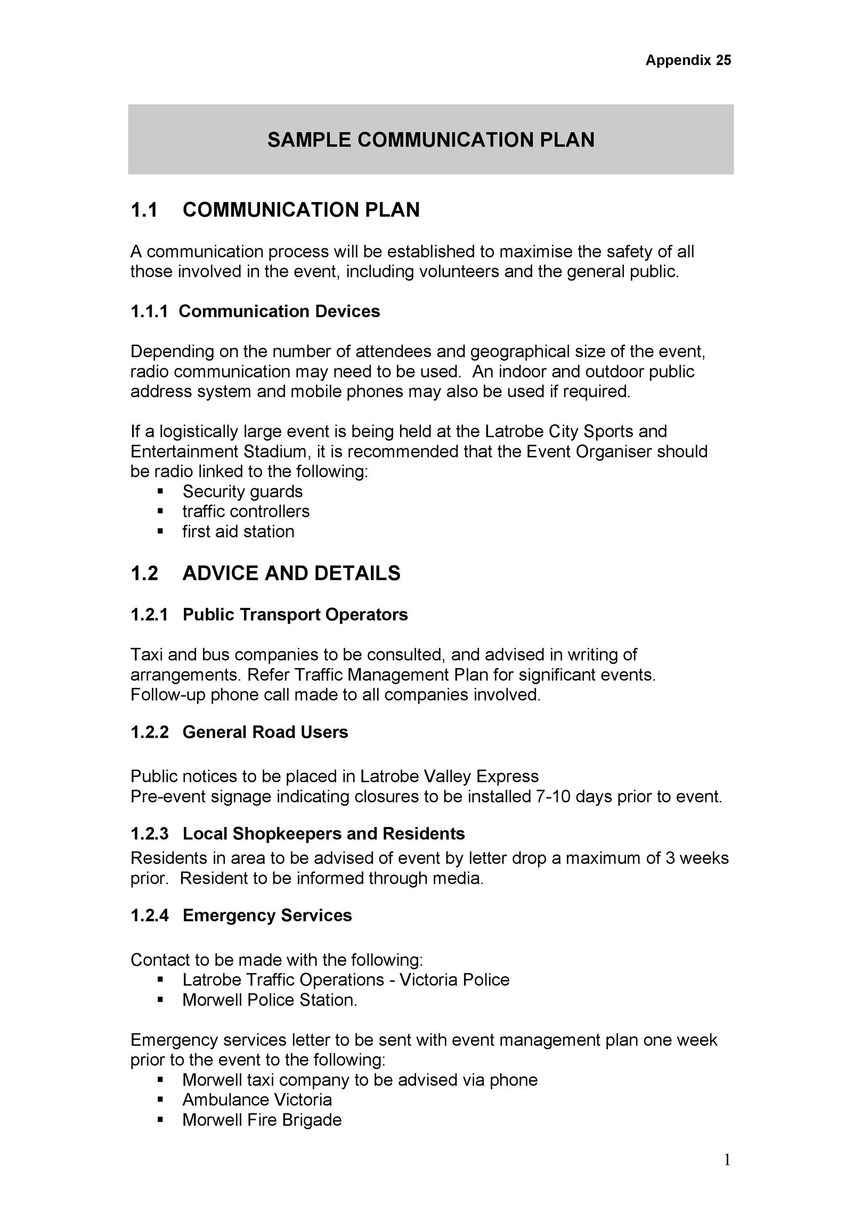 Free Communication Plan Template 09