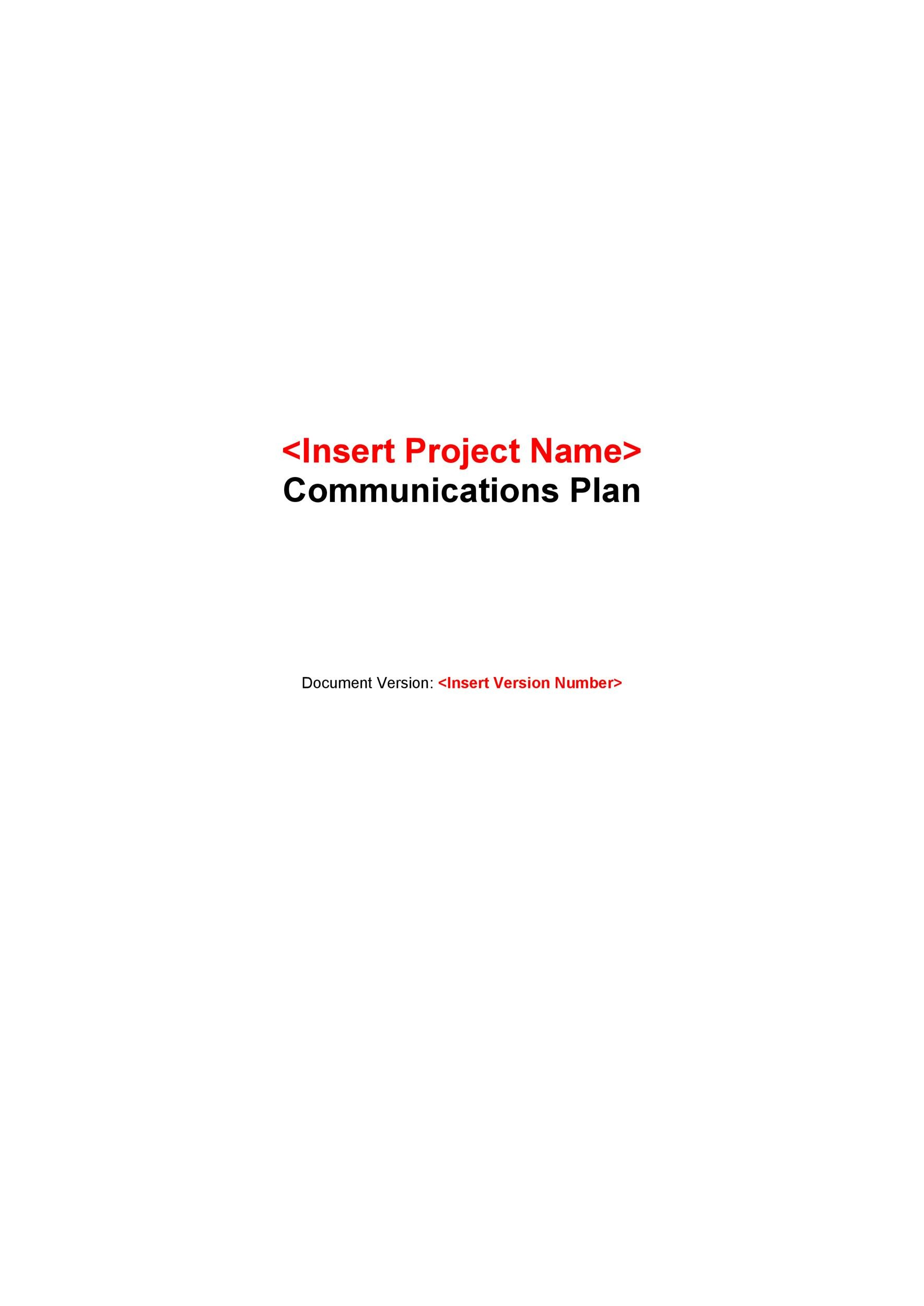 Free Communication Plan Template 13