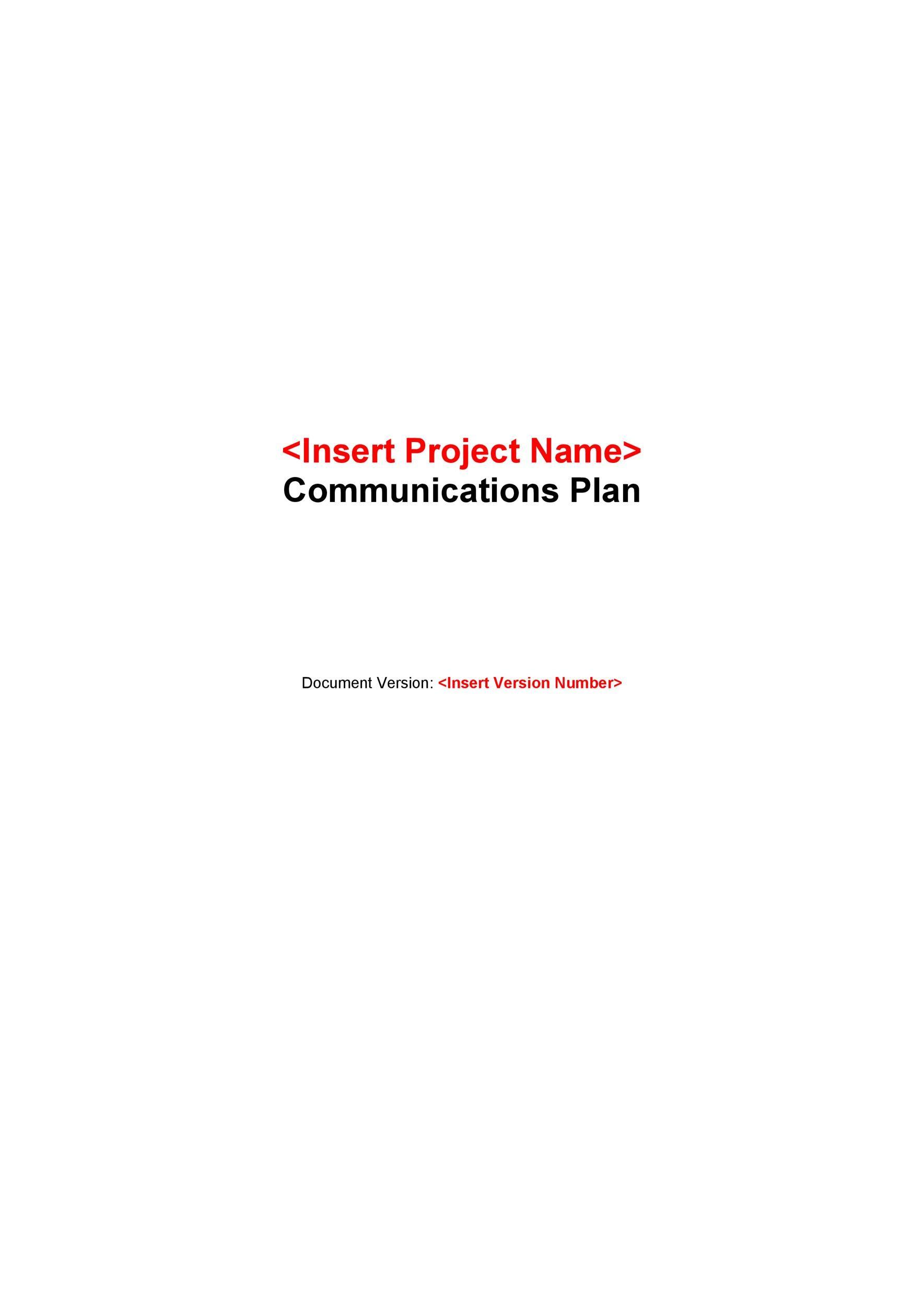 Free Communication Plan Template 13