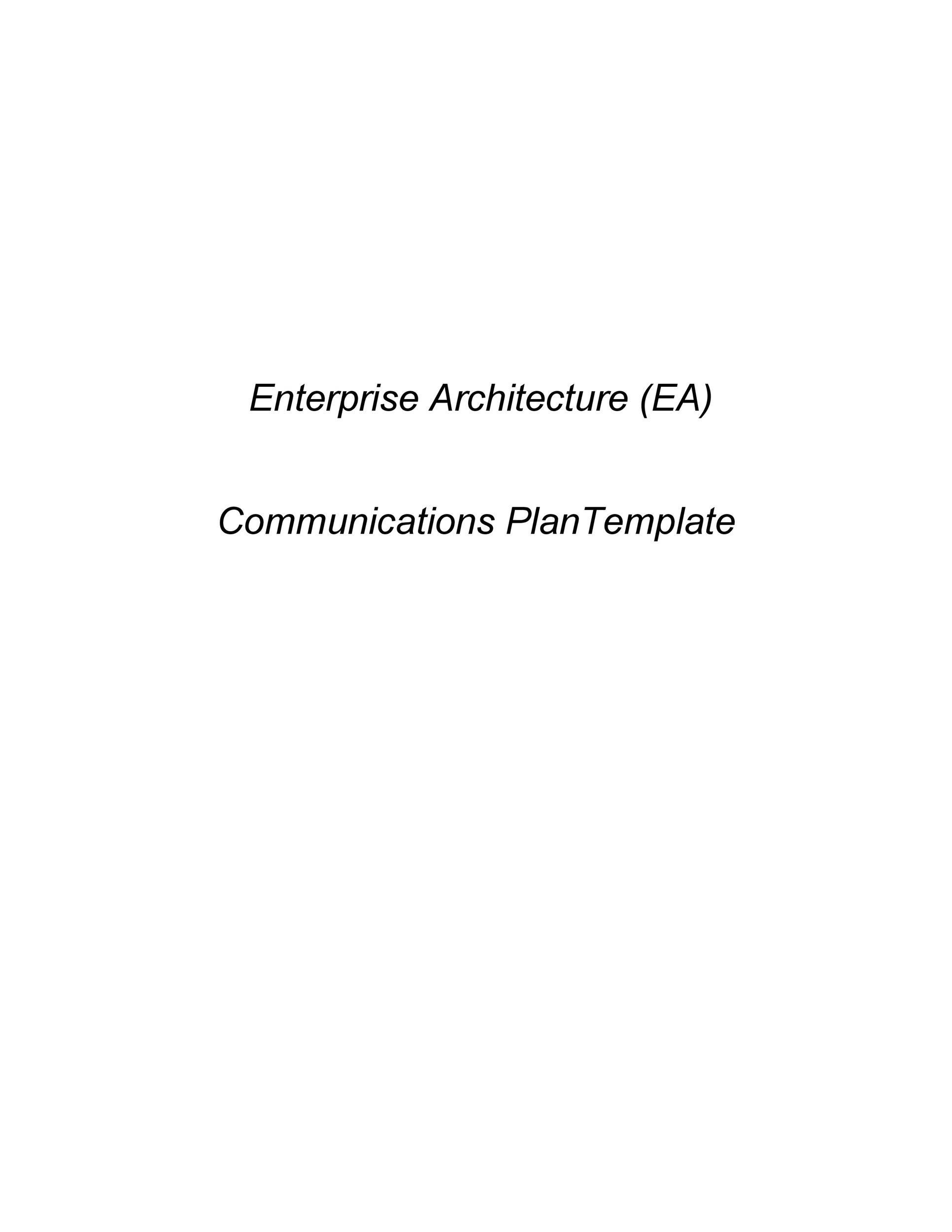 Free Communication Plan Template 18
