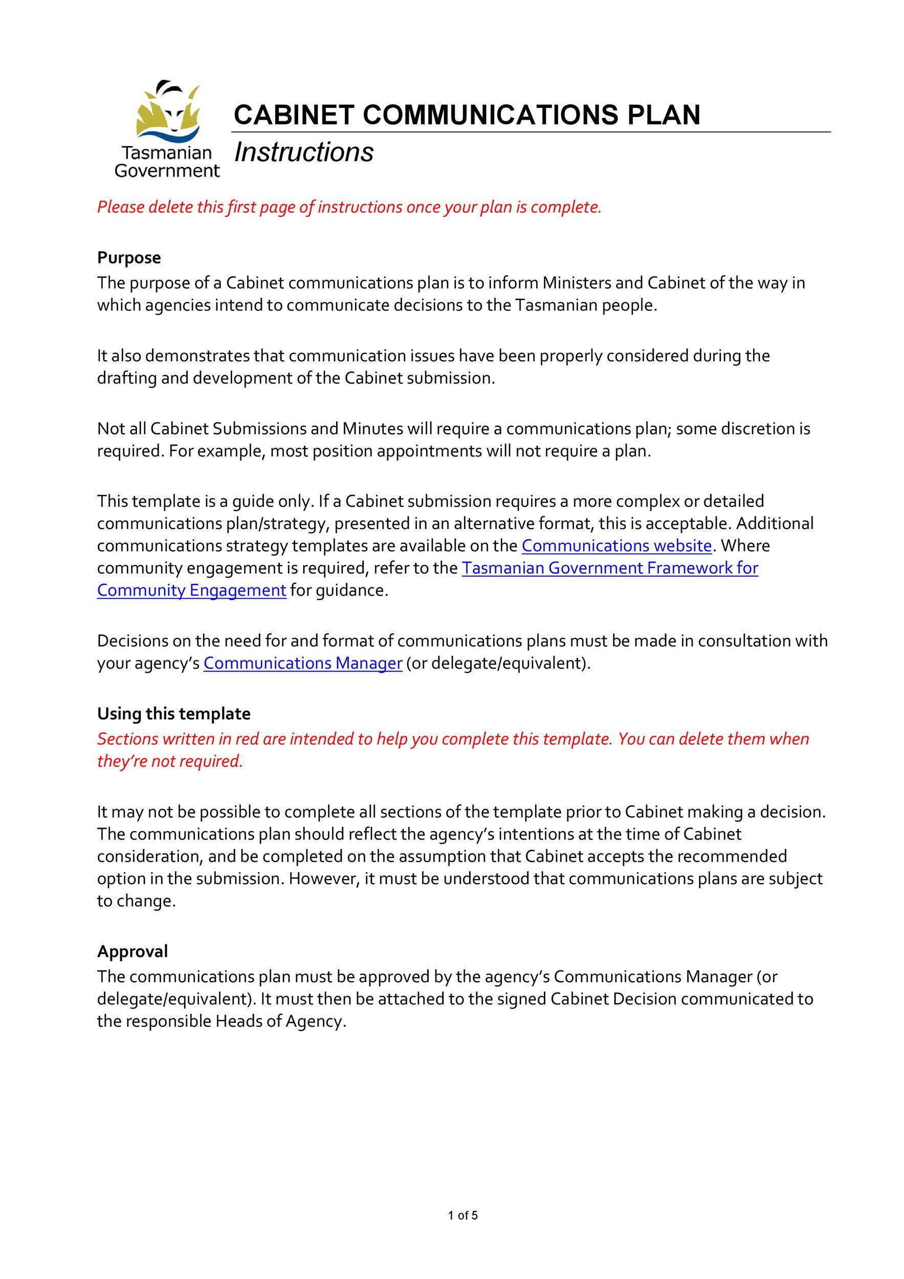 Free Communication Plan Template 21