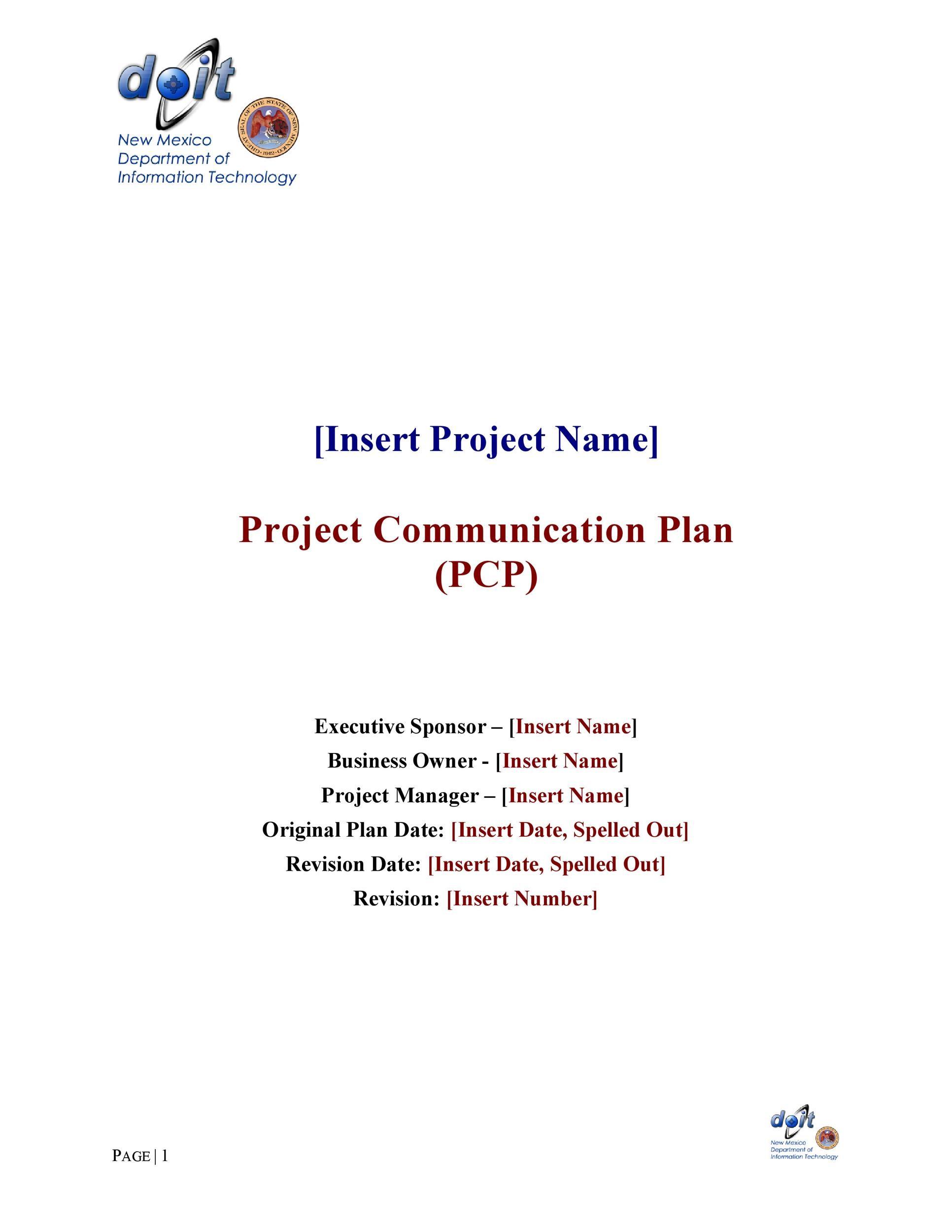 Free Communication Plan Template 27