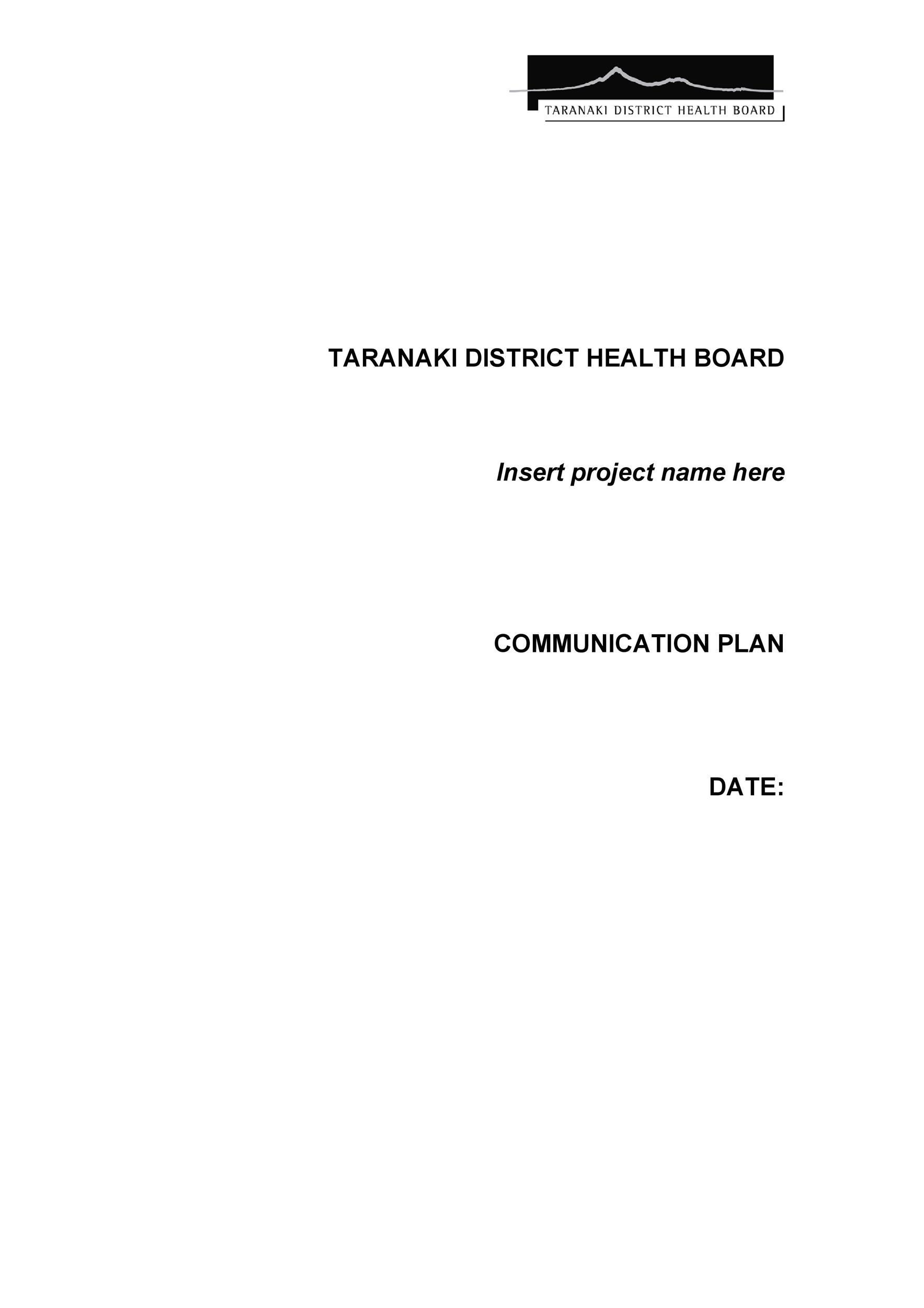 Free Communication Plan Template 31